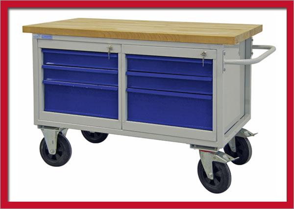 152324 mobile werkbank werktisch arbeitstisch tischwagen werkstattbank 42746 ebay. Black Bedroom Furniture Sets. Home Design Ideas