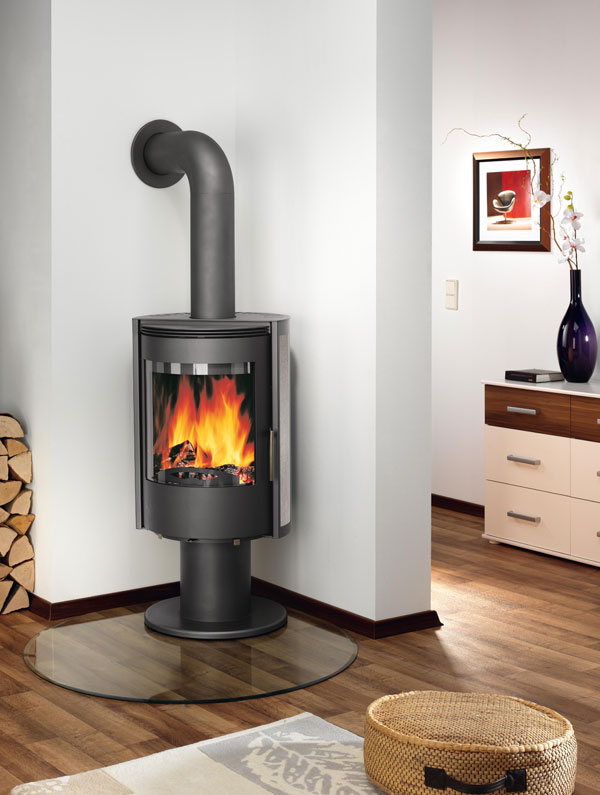 justus kaminofen rondo stahl 7 0 kw rund dauerbrandofen. Black Bedroom Furniture Sets. Home Design Ideas