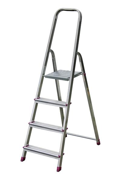 krause haushaltsleiter stehleiter trittleiter leiter 4 stufen 27039 ebay. Black Bedroom Furniture Sets. Home Design Ideas
