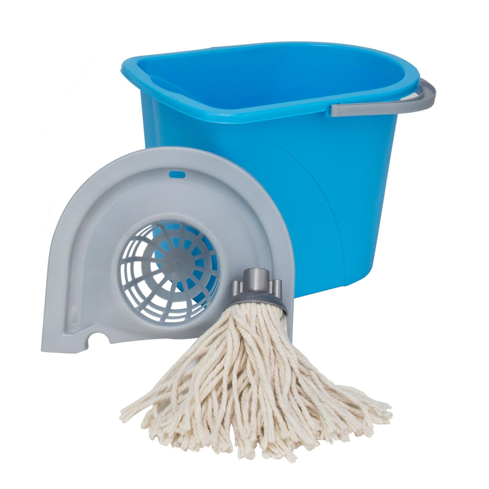 wischmop set 15 l eimer auswringsystem wischer mop putzeimer putzset ebay. Black Bedroom Furniture Sets. Home Design Ideas