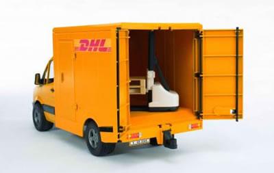bruder mercedes sprinter dhl handhubwagen 02534 10408 ebay. Black Bedroom Furniture Sets. Home Design Ideas