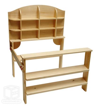 holz kaufladen kinder kaufladen einkaufsladen neu 10823 ebay. Black Bedroom Furniture Sets. Home Design Ideas
