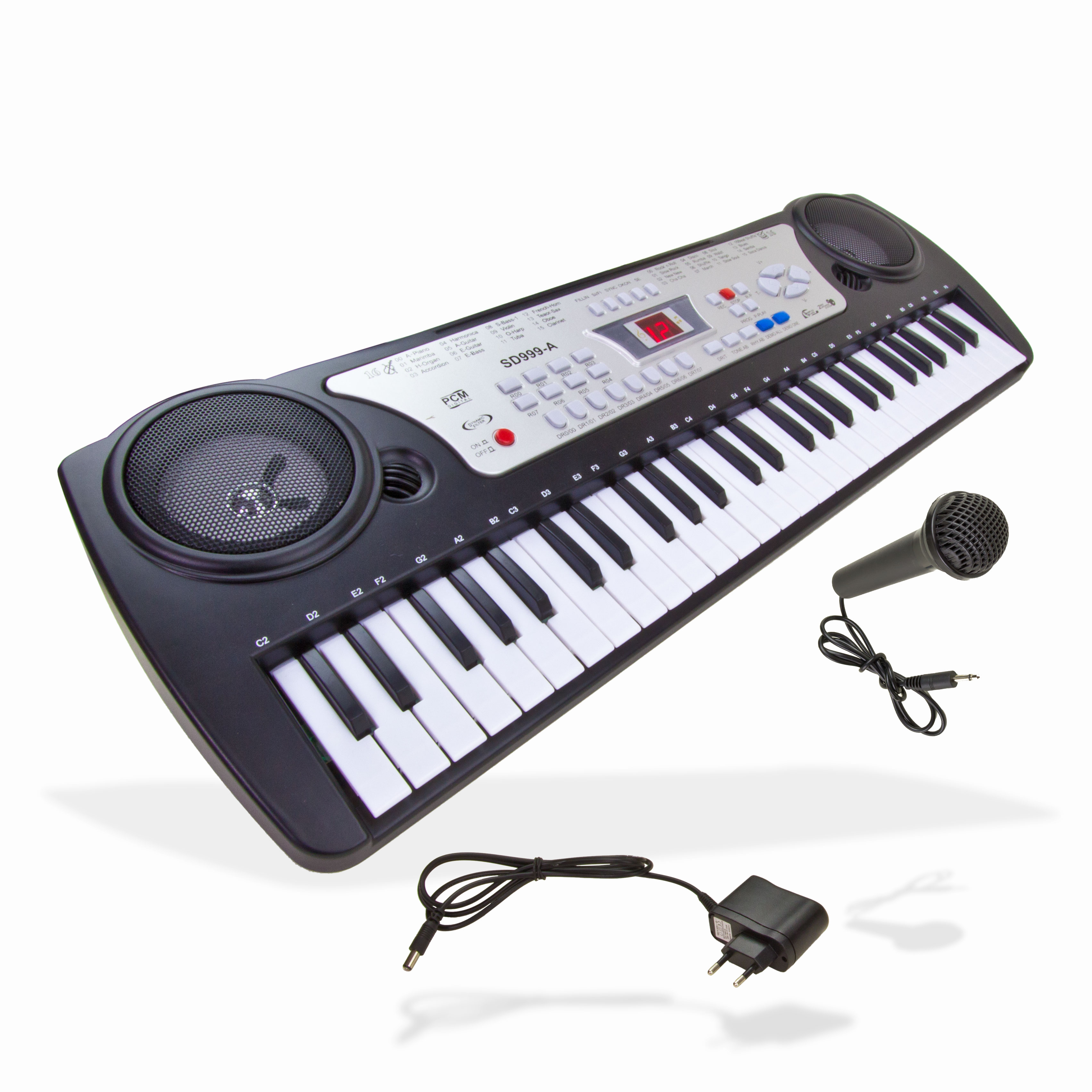 Kinder-Fun-Keyboard-Orgel-Klavier-Piano-54-Tasten-Batterie-Keybord-NEU-12425