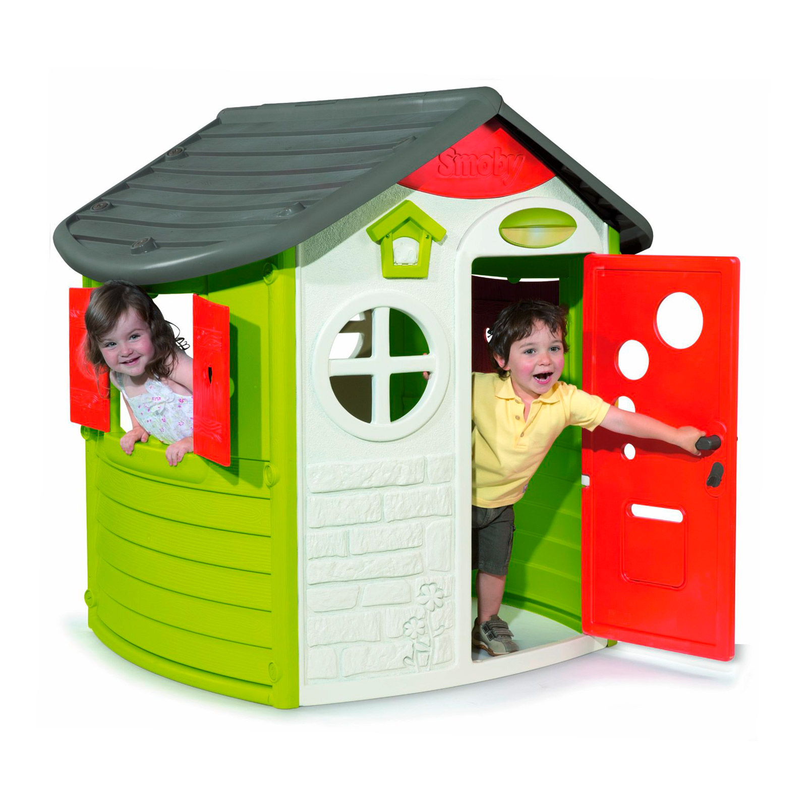 917791 smoby jura haus kinderzimmer garten spielhaus ebay. Black Bedroom Furniture Sets. Home Design Ideas