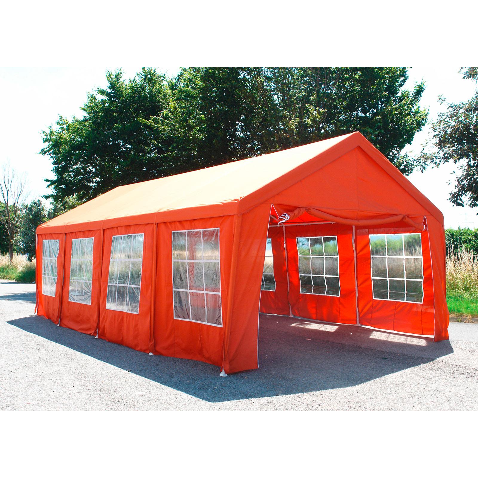 917489 partyzelt 4x8m terracotta pavillion zelt festzelt ebay. Black Bedroom Furniture Sets. Home Design Ideas