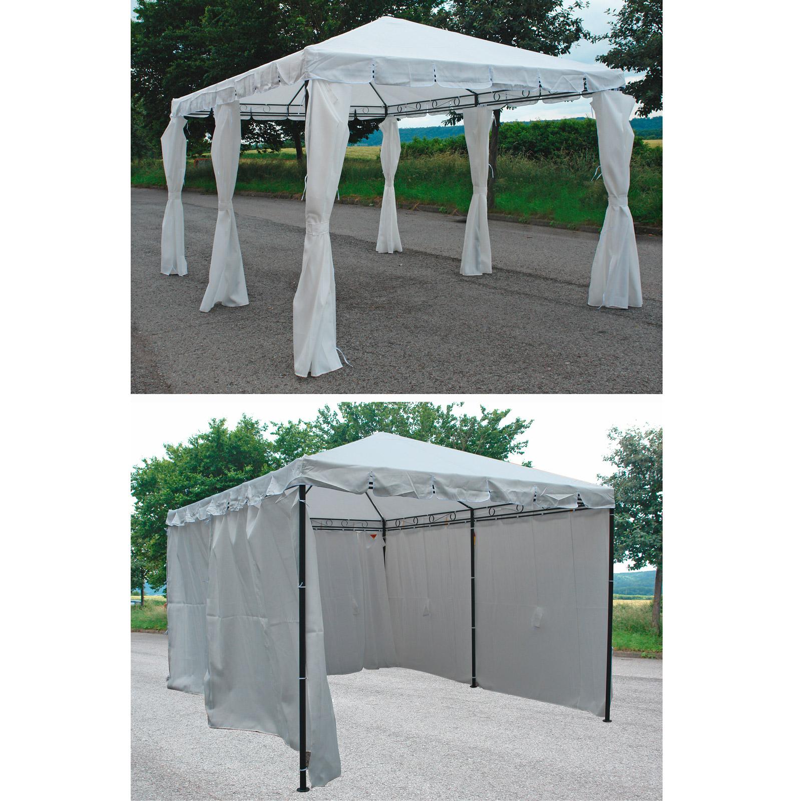pavillon m metallgestell 3x4m walmdach 917490 14206 ebay. Black Bedroom Furniture Sets. Home Design Ideas