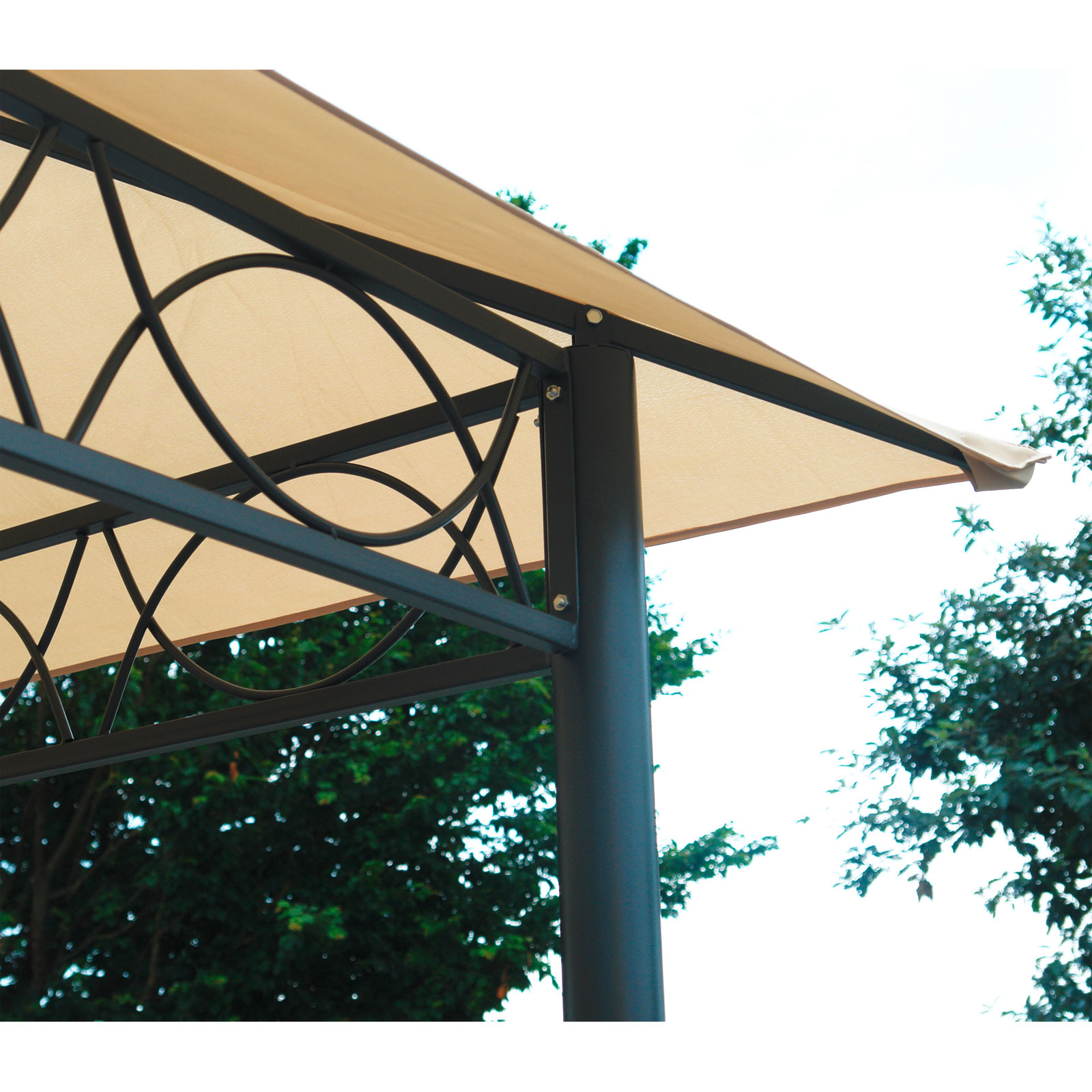 pavillon mit festem dach pavillon holz mit festem dach m. Black Bedroom Furniture Sets. Home Design Ideas