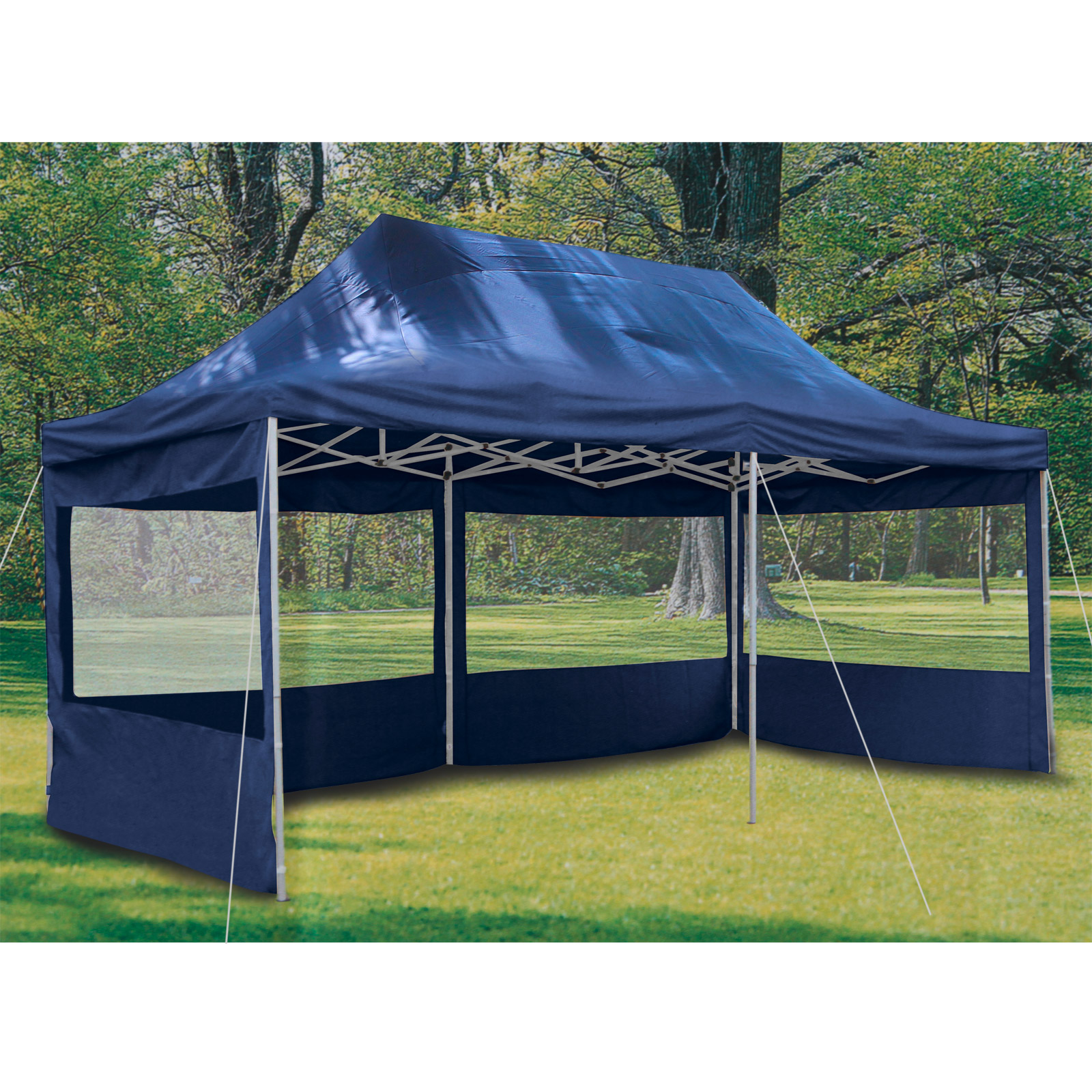 profizelt24 party zelt festzelt 3x6m garten pavillon zelt mit fenstern hochwertige 500g m pvc. Black Bedroom Furniture Sets. Home Design Ideas