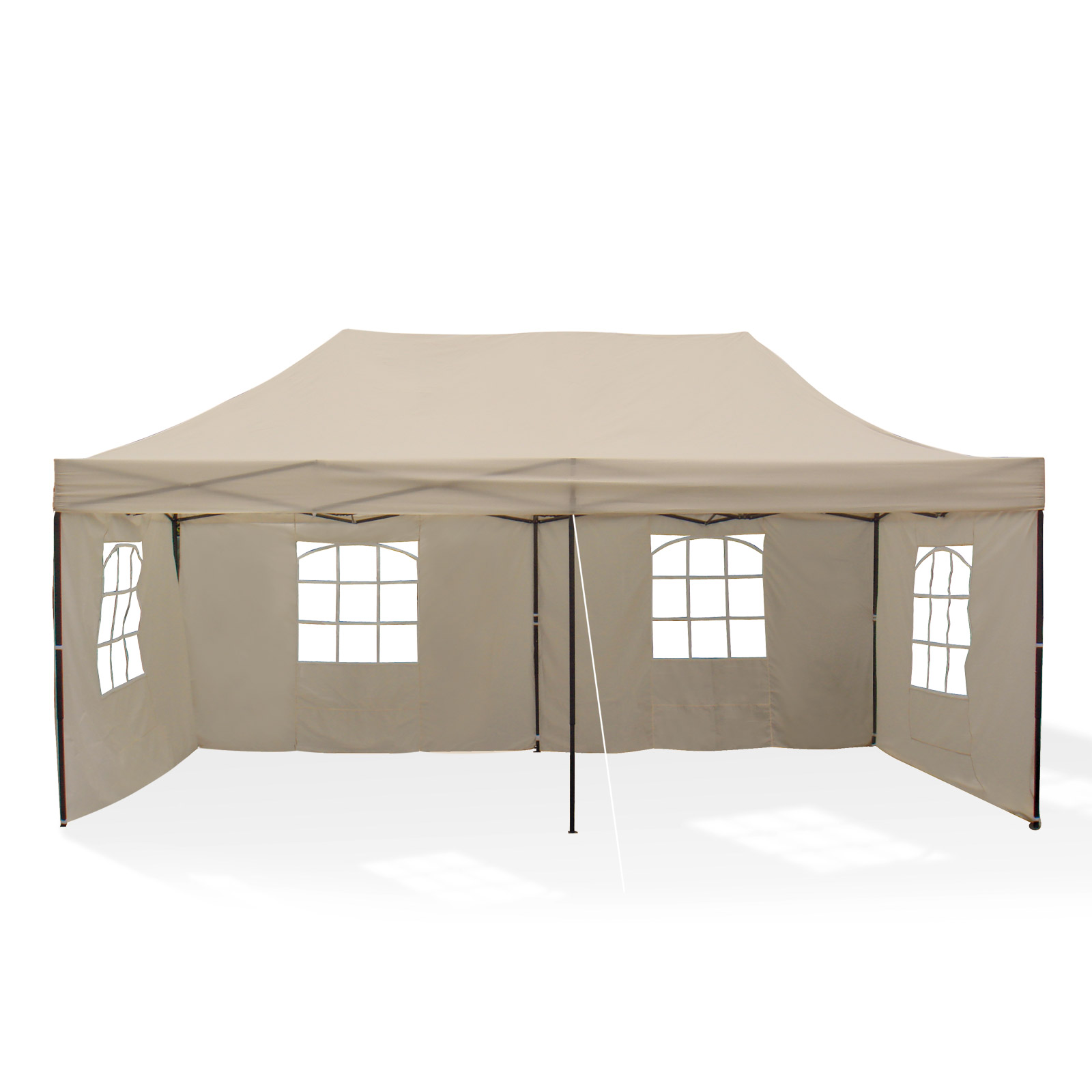 metall faltpavillon xxl 3x6 m pavillon partyzelt zelt berdachung beige 918460 ebay. Black Bedroom Furniture Sets. Home Design Ideas