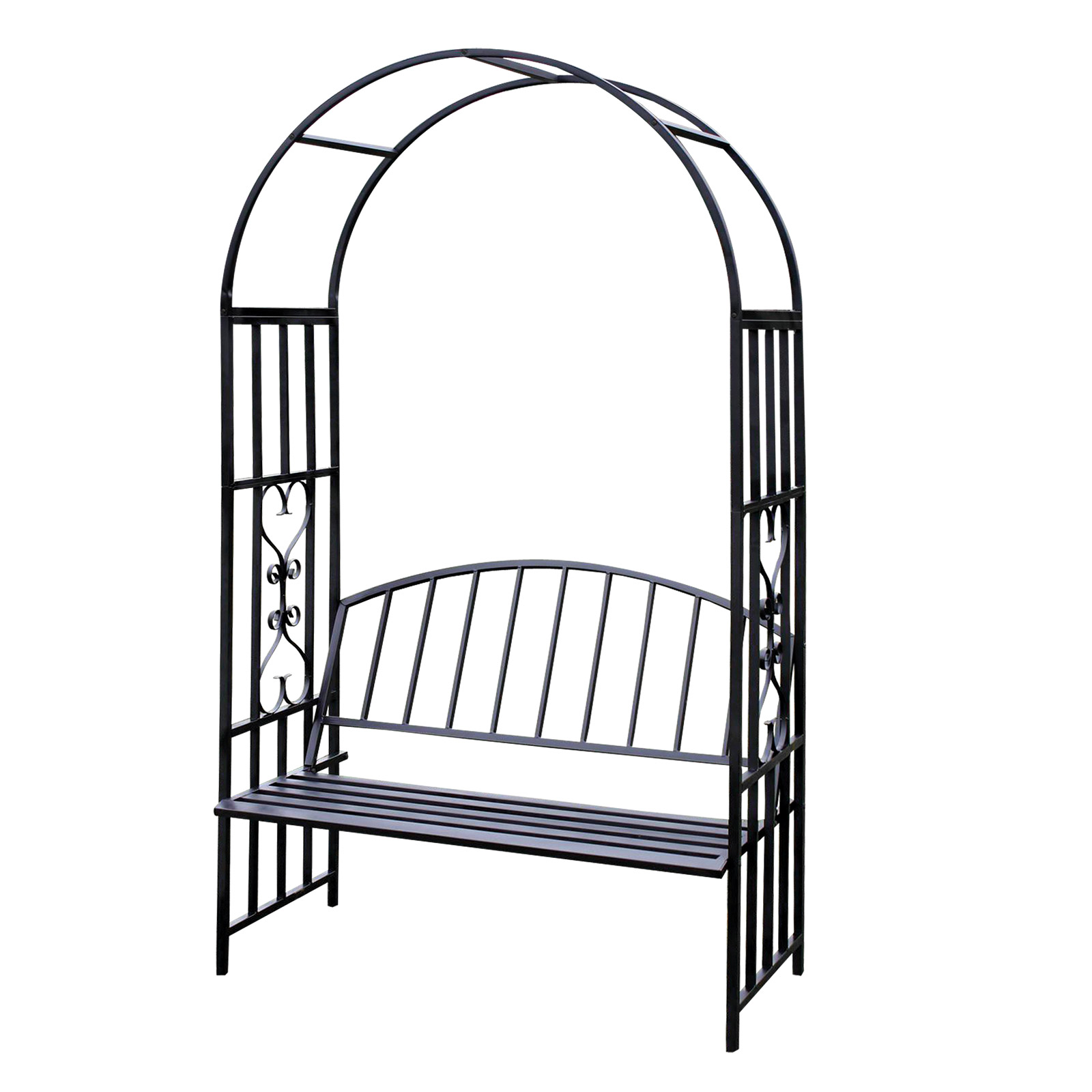 rosenbogen turin mit bank rankhilfe spalier rankgitter rankbogen 919159 ebay. Black Bedroom Furniture Sets. Home Design Ideas