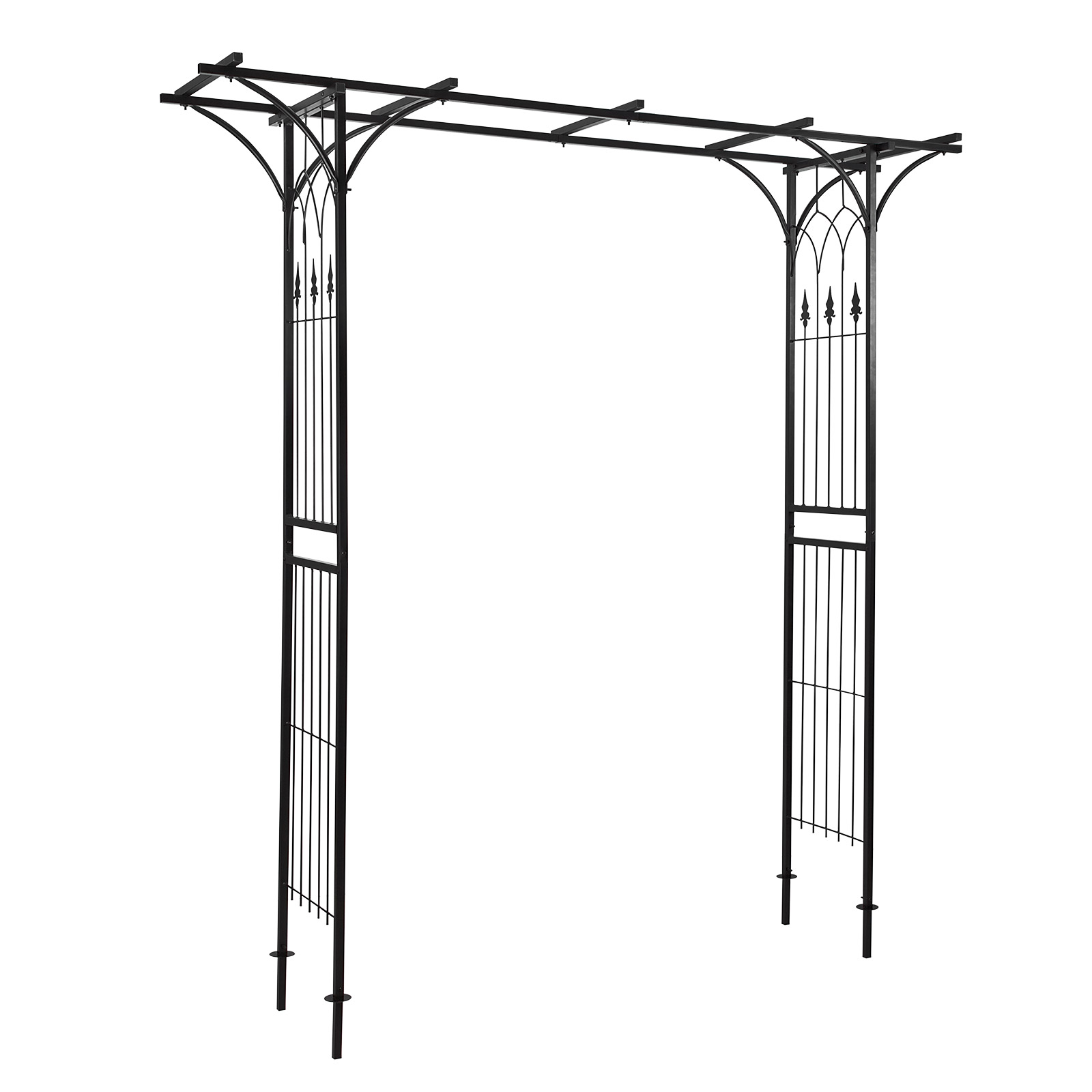 rosenbogen pergola torbogen metall rankhilfe rankgitter mailand 919111 ebay. Black Bedroom Furniture Sets. Home Design Ideas