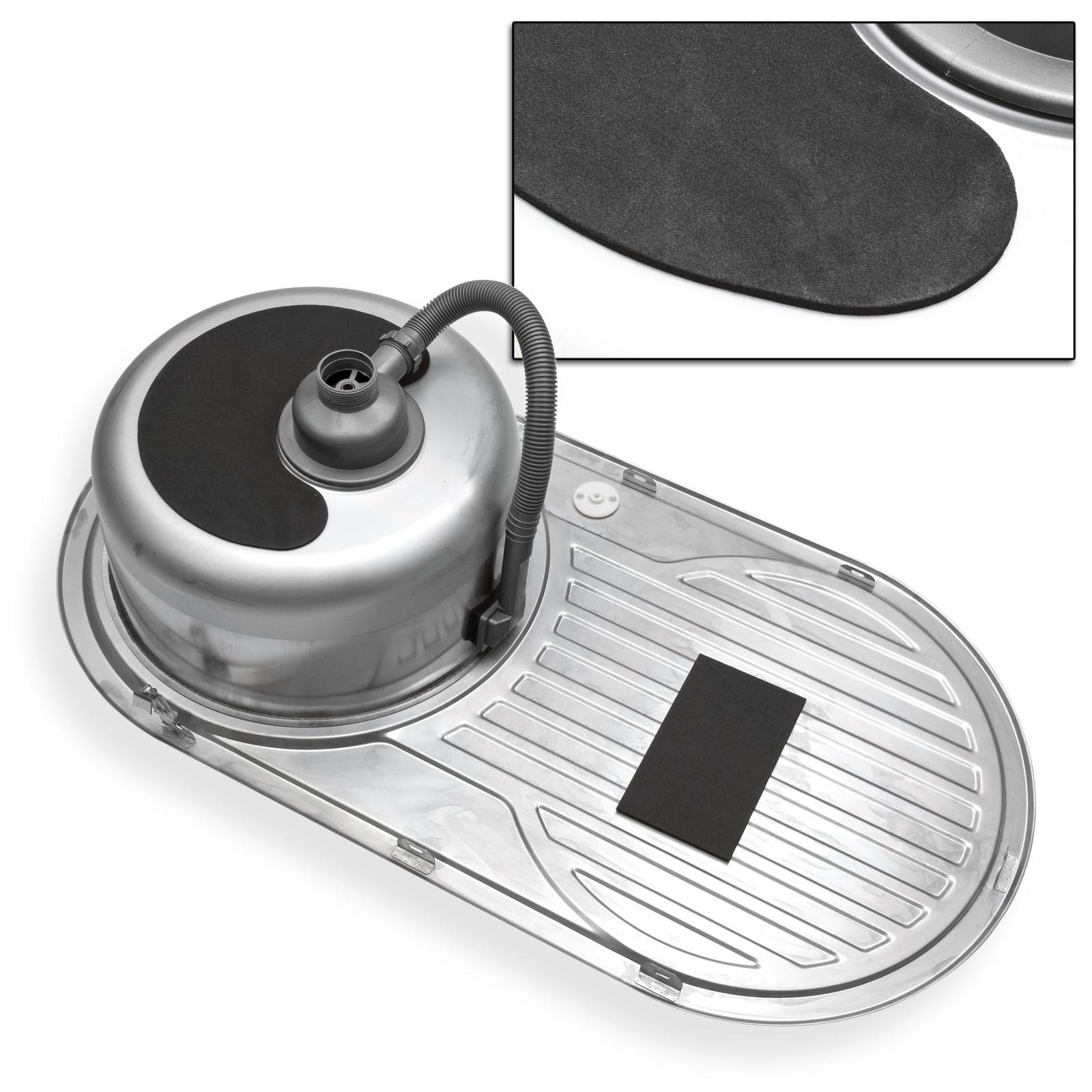 einbausp le re rund mit ablage edelstahl rundsp le waschbecken sp lbecken 14991 ebay. Black Bedroom Furniture Sets. Home Design Ideas