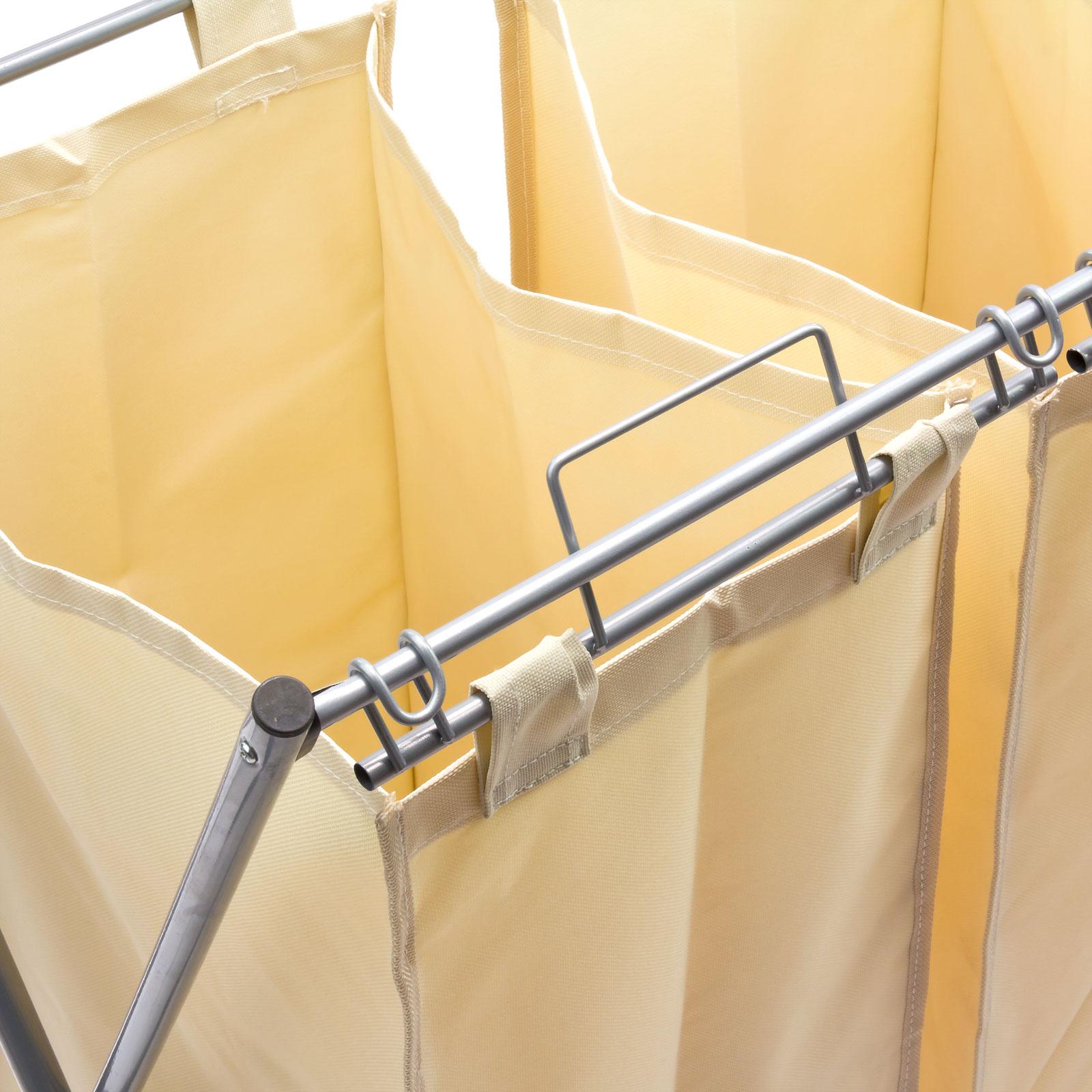 w schesortierer w schesammler 3 fach w schekorb w schest nder metall 15008 ebay. Black Bedroom Furniture Sets. Home Design Ideas