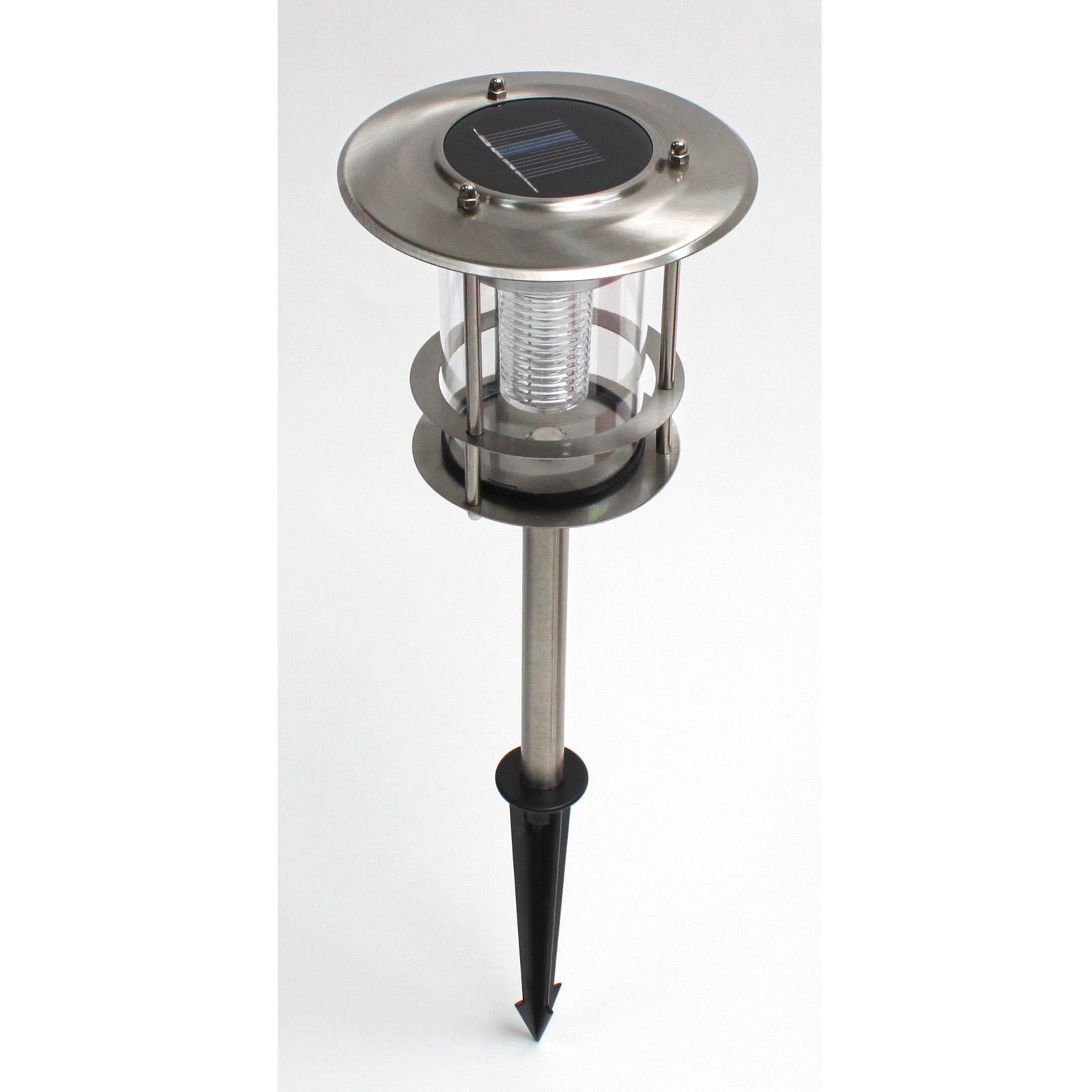 911845 solarleuchte solar lampe edelstahl garten ebay for Edelstahl lampe