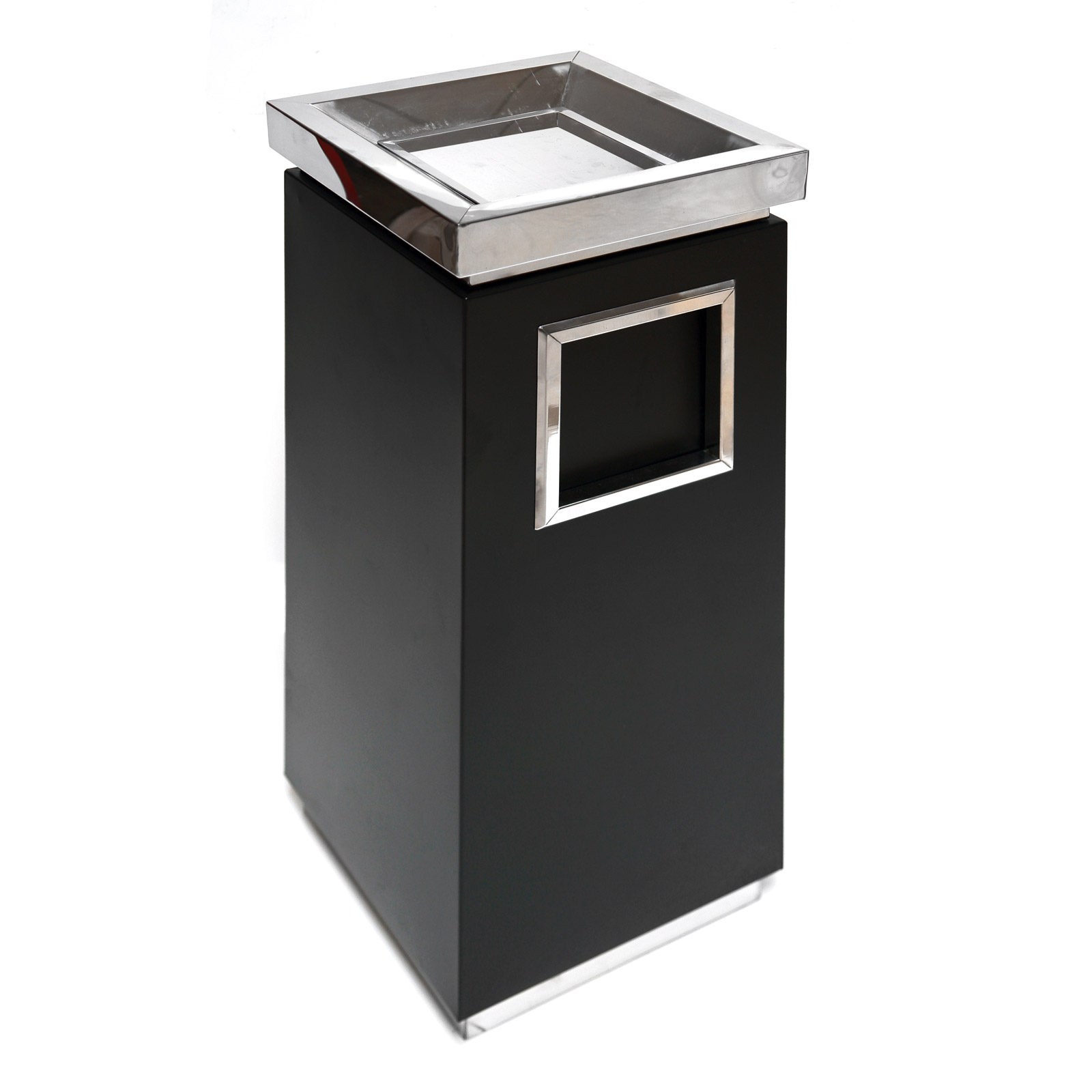 standaschenbecher schwarz 28x28x65 cm f r drau en 17275 ebay. Black Bedroom Furniture Sets. Home Design Ideas