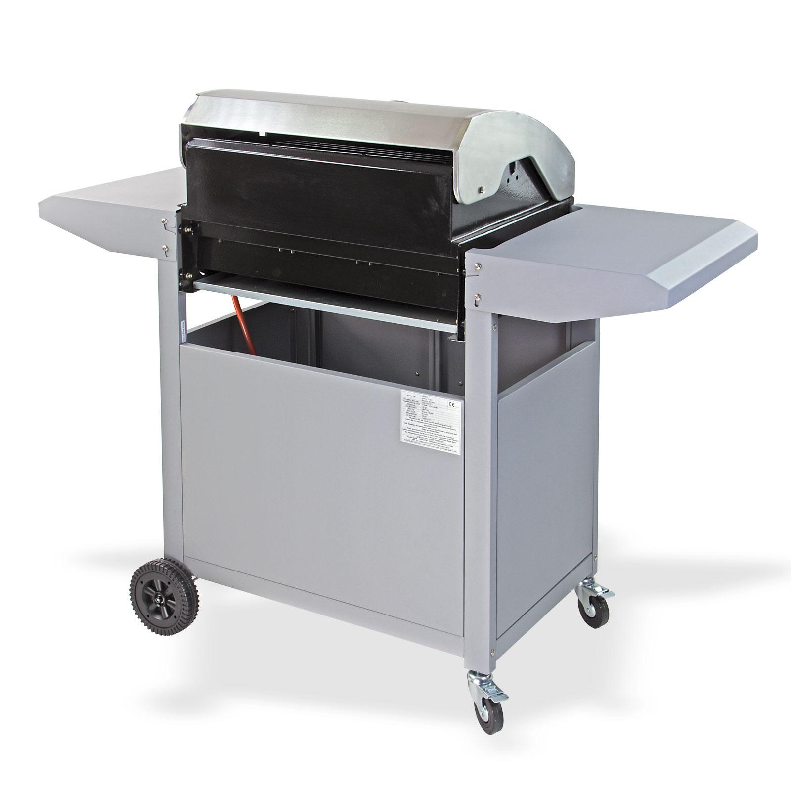 edelstahl gas grill gasgrill bbq barbecue smoker grillwagen grillen neu 17541 ebay. Black Bedroom Furniture Sets. Home Design Ideas