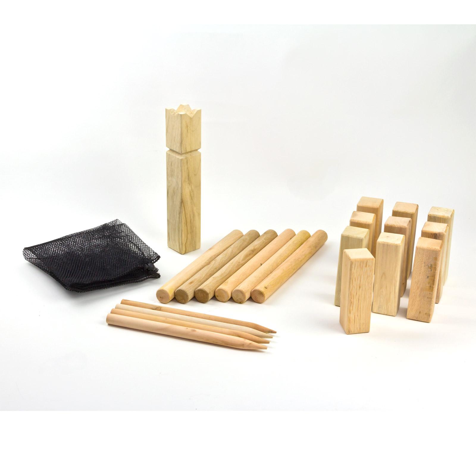 wikinger schach kubb wurfspiel spiel wikingerspiel 21tlg neu 919269 ebay. Black Bedroom Furniture Sets. Home Design Ideas