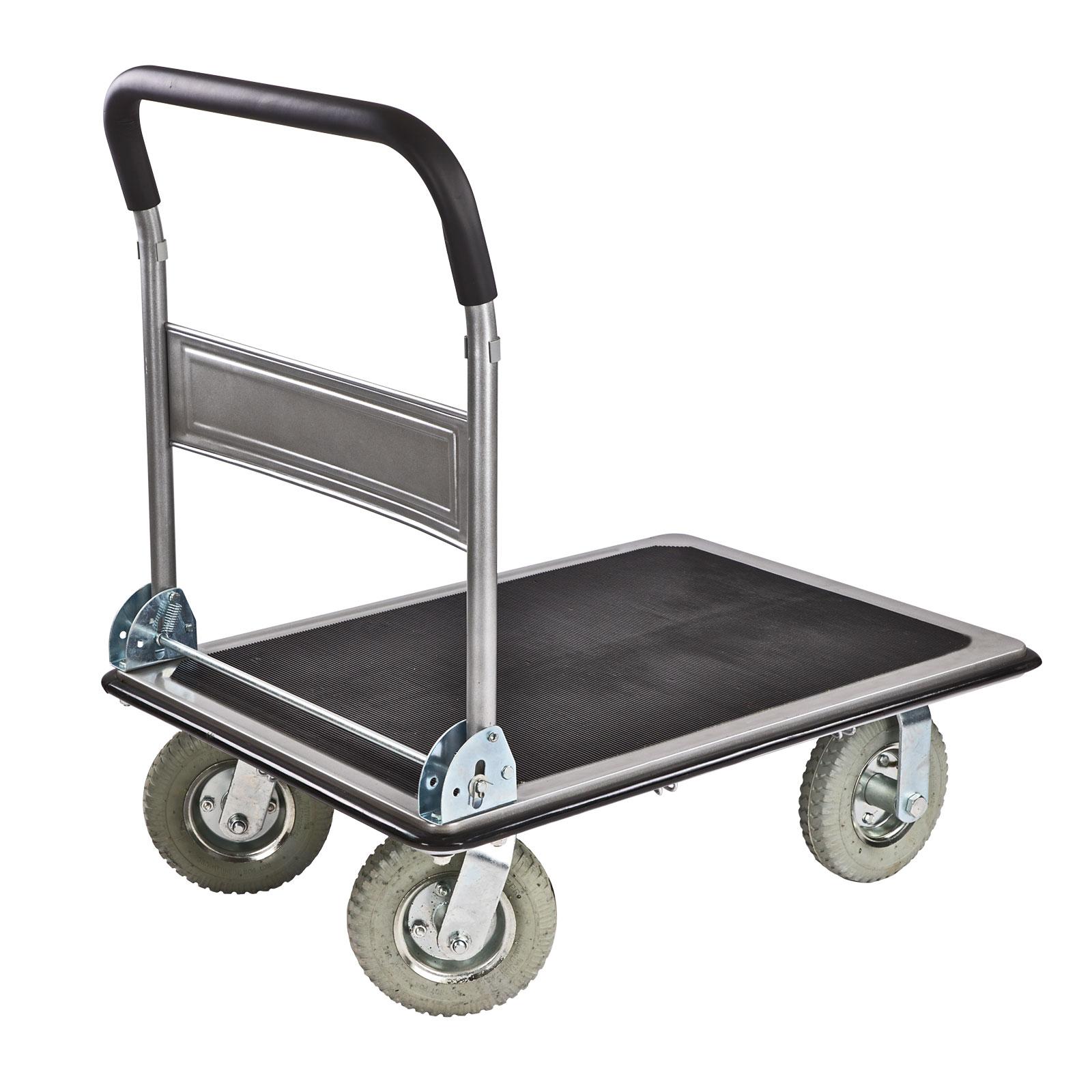 transportwagen klappbar handwagen plattformwagen klappwagen 300kg luftbereifung ebay. Black Bedroom Furniture Sets. Home Design Ideas