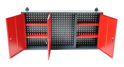 Erstaunlich Metall Wandschrank Hängeschrank Lochwand für Garage Werkstatt Rot  JK39