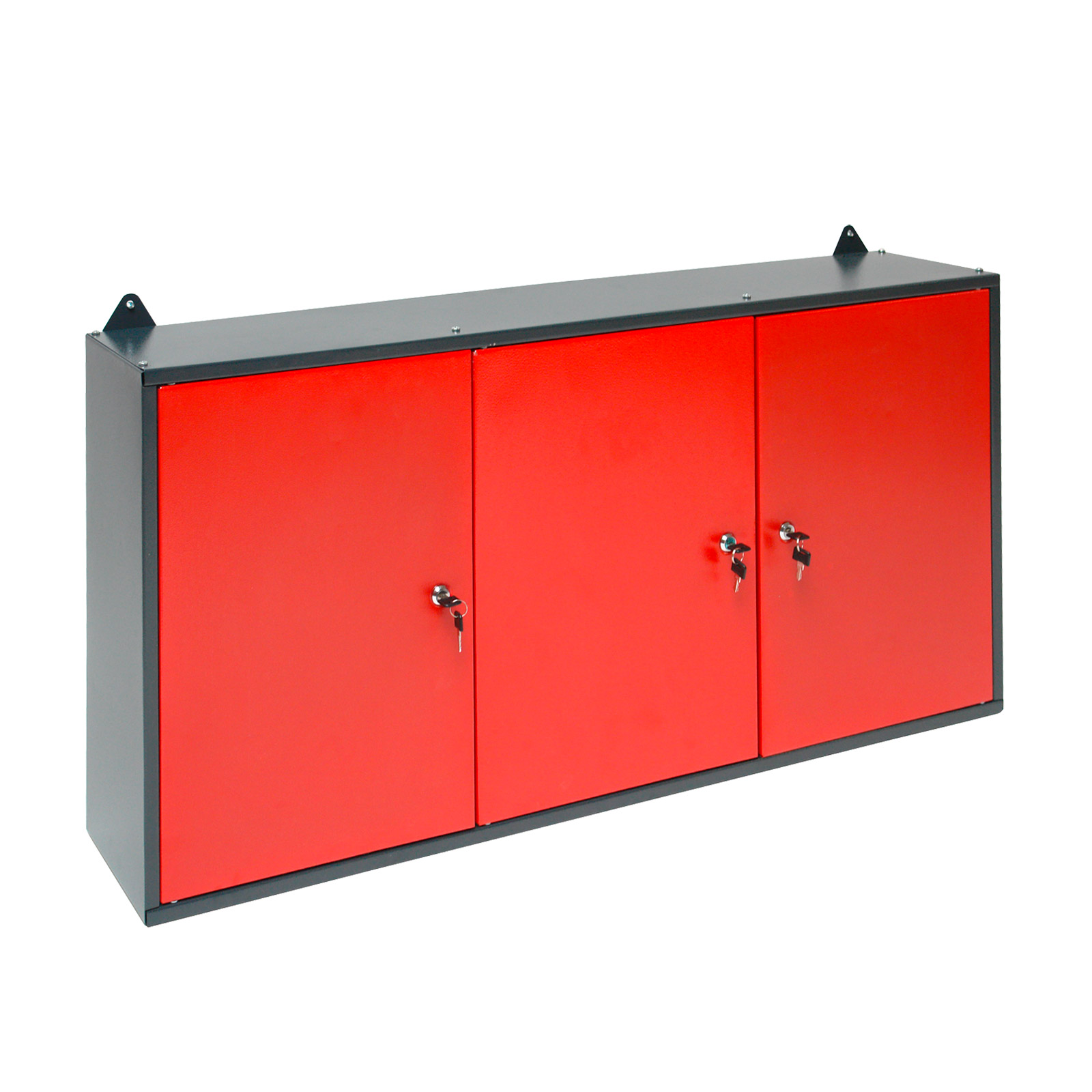 metall wandschrank h ngeschrank lochwand f r garage werkstatt rot anthr 3 t ren ebay. Black Bedroom Furniture Sets. Home Design Ideas