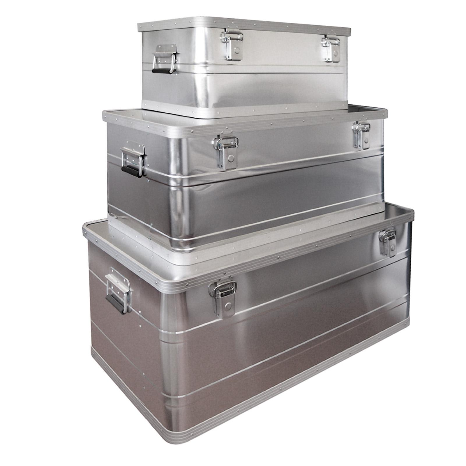 3er set werkzeugkiste werkzeugkasten alubox alukiste alu boxen neu 915828 ebay. Black Bedroom Furniture Sets. Home Design Ideas