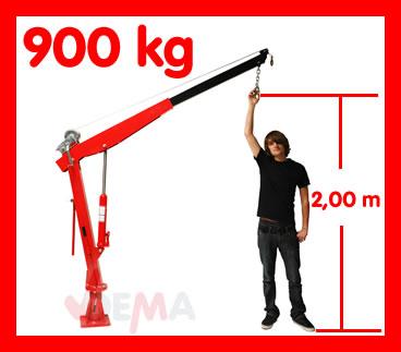 24515 pick up kran hebekran m seilwinde 900kg ladekran ebay. Black Bedroom Furniture Sets. Home Design Ideas