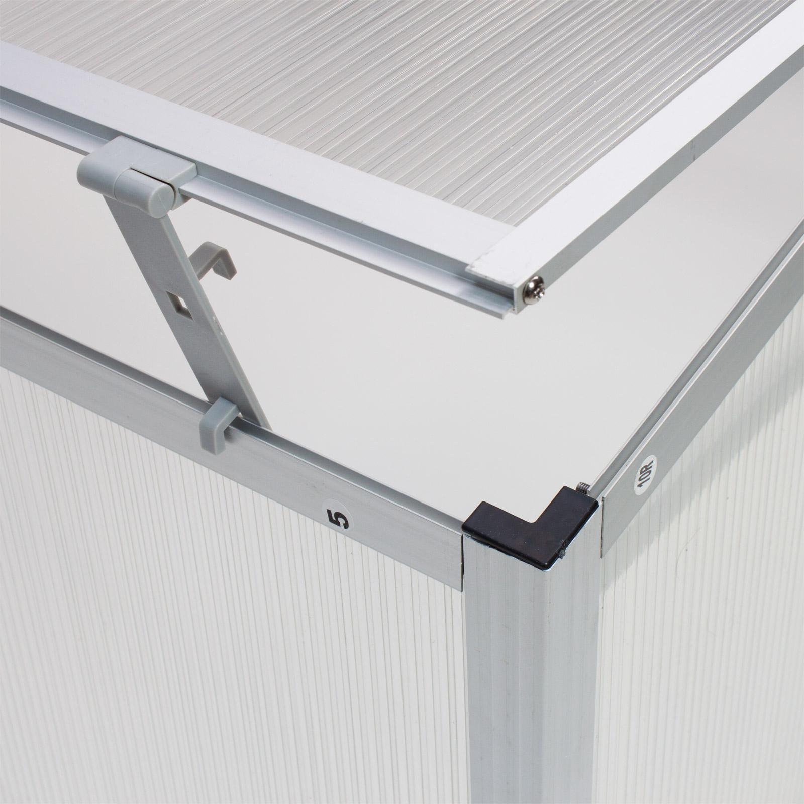 911135 garten balkon fr hbeet anzuchtbeet treibhaus gew chshaus aluprofil beet ebay. Black Bedroom Furniture Sets. Home Design Ideas