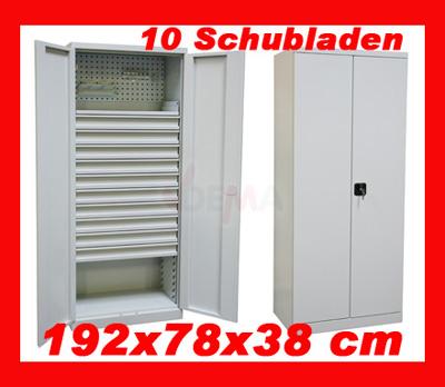 917138 schubladenschrank werkzeugschrank metallschrank materialschrank schrank ebay. Black Bedroom Furniture Sets. Home Design Ideas