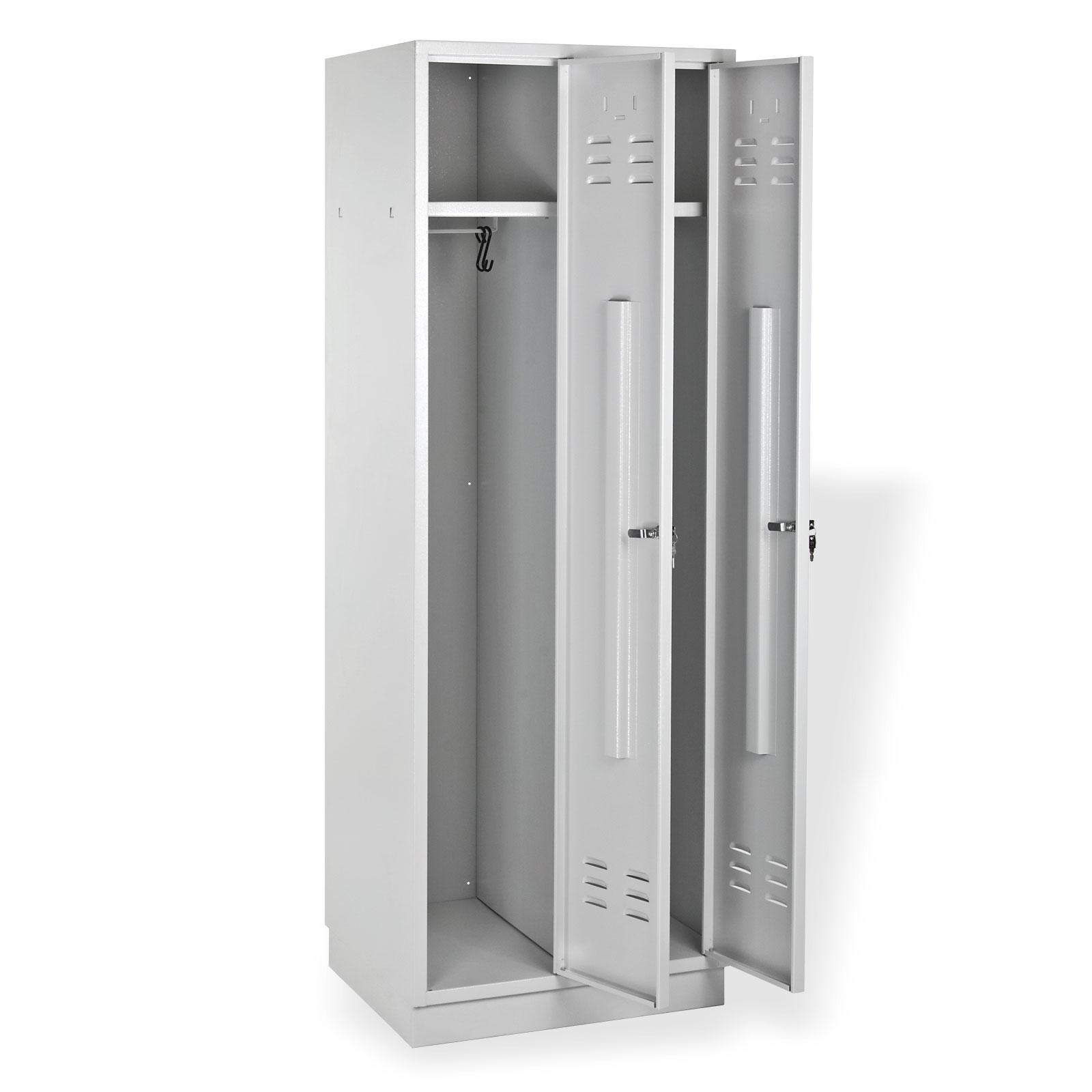 2x spind spint garderobenschrank kleiderschrank metall 2 t rig neu 913873 ebay. Black Bedroom Furniture Sets. Home Design Ideas