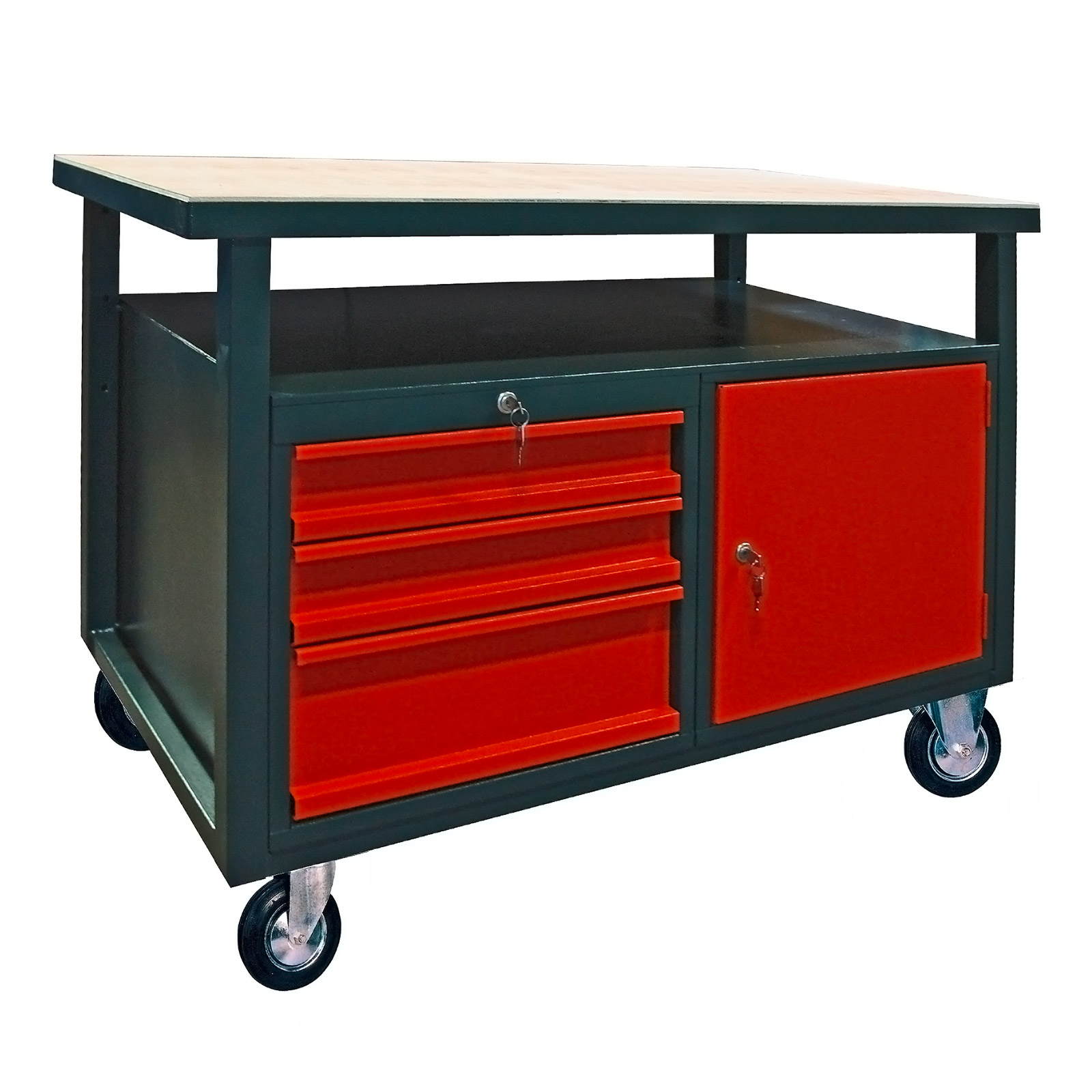 werkbank werktisch arbeitstisch schublade fahrbar 40911 ebay. Black Bedroom Furniture Sets. Home Design Ideas