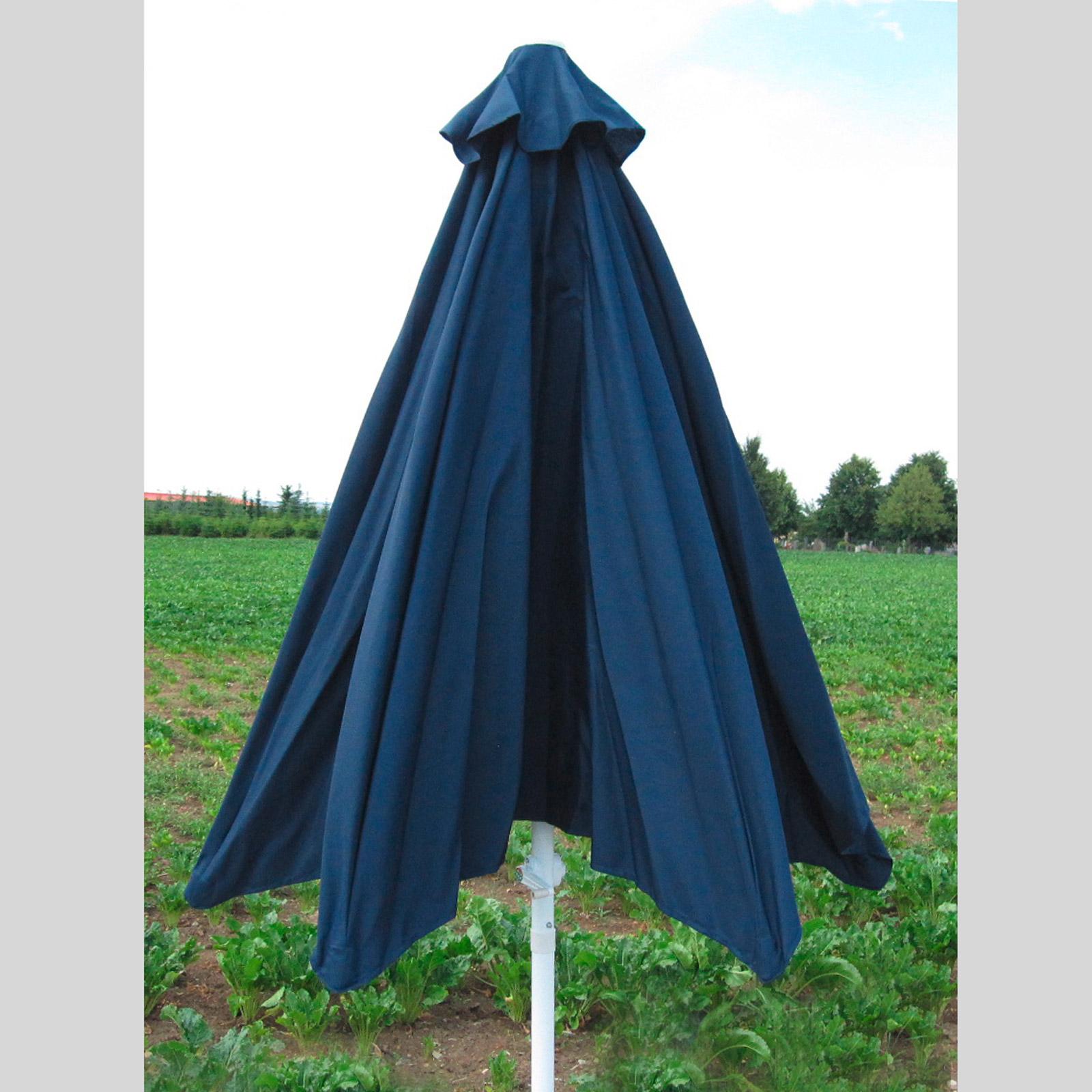 sonnenschirm sonnenschutz gartenschirm kurbelschirm kurbel schirm 3m blau 41016 ebay. Black Bedroom Furniture Sets. Home Design Ideas