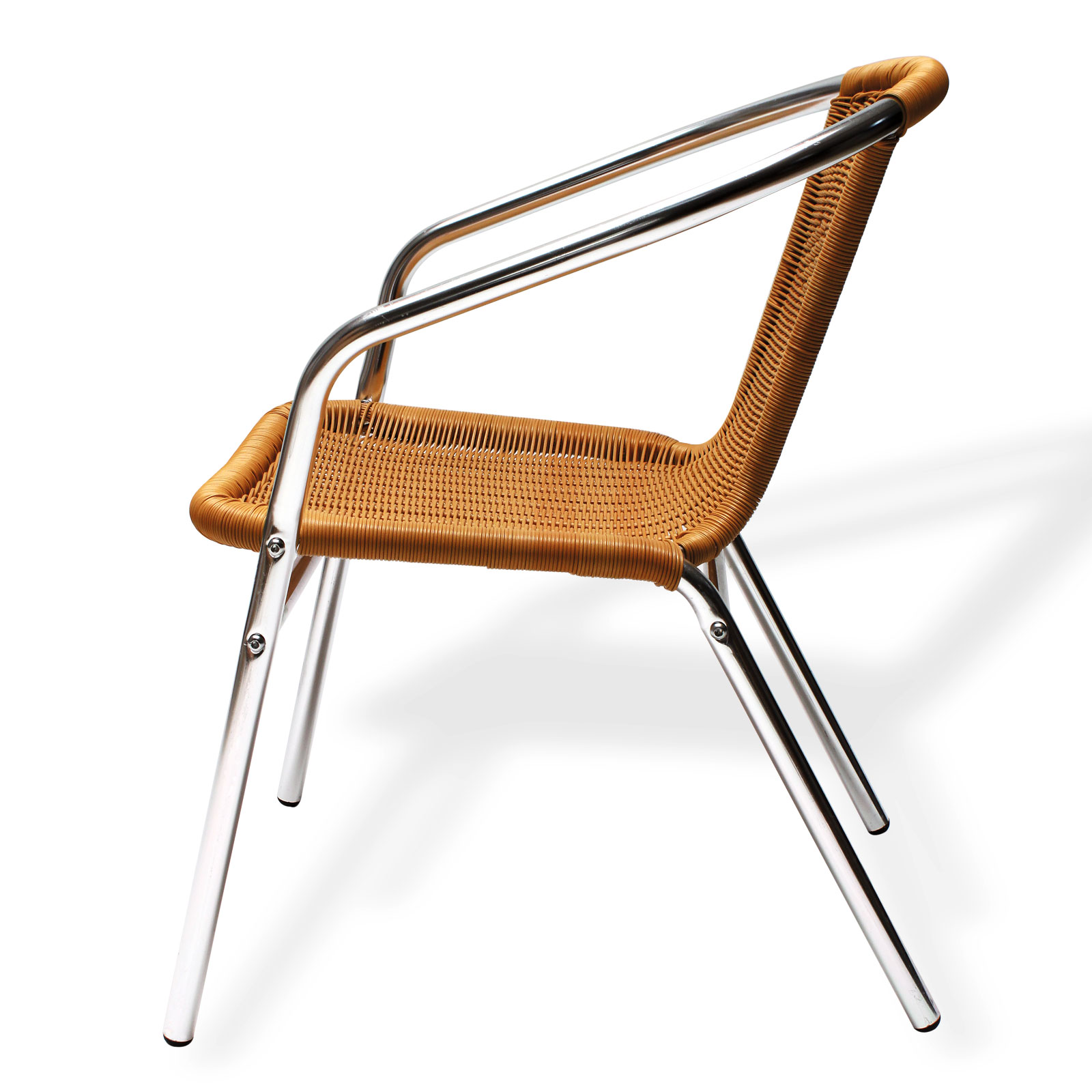 bistrostuhl gartenstuhl alu witterungsbest ndig wetterfest stapelbar neu 41066 ebay. Black Bedroom Furniture Sets. Home Design Ideas