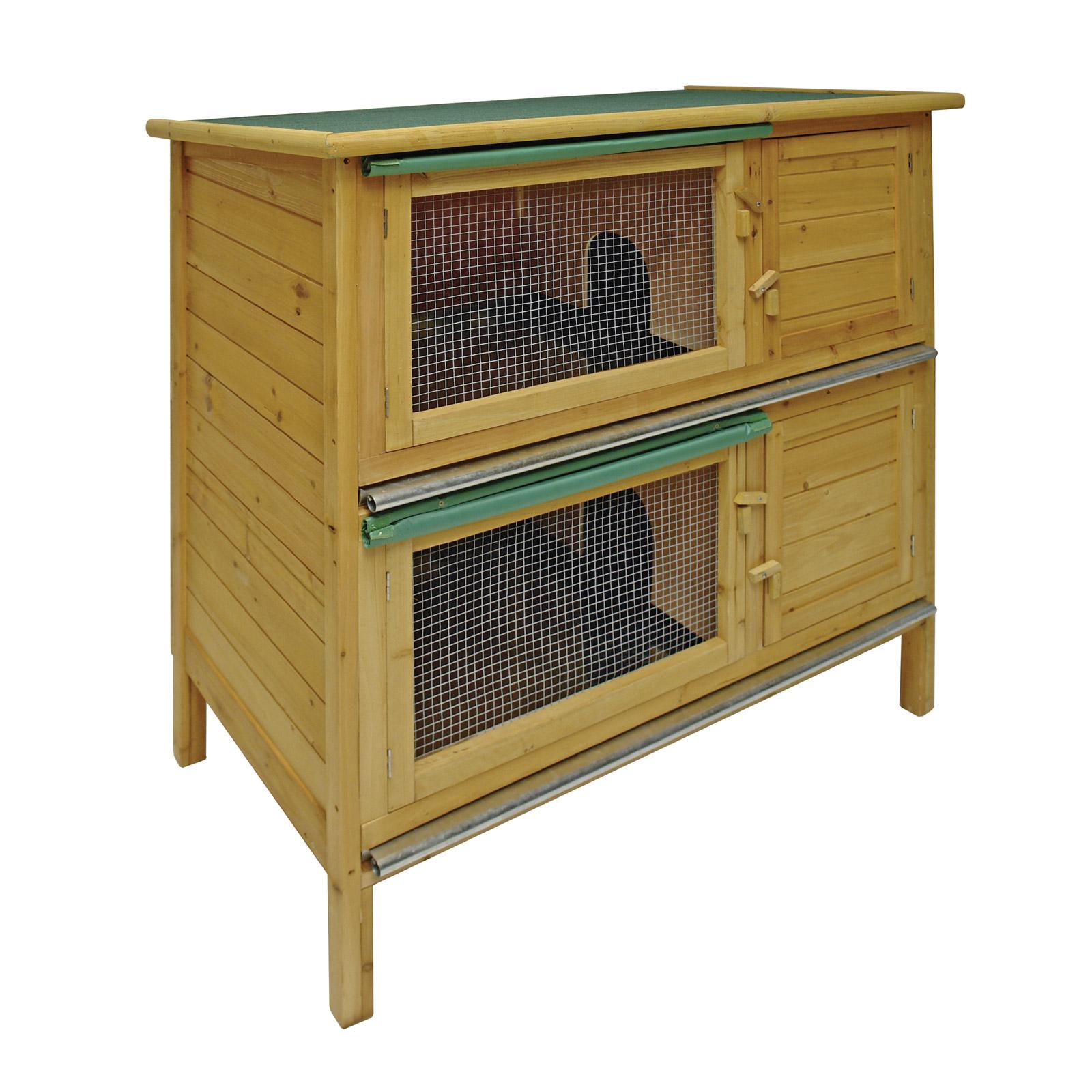 hasenstall double 2 kaninchenstall hasen 41232 ebay. Black Bedroom Furniture Sets. Home Design Ideas