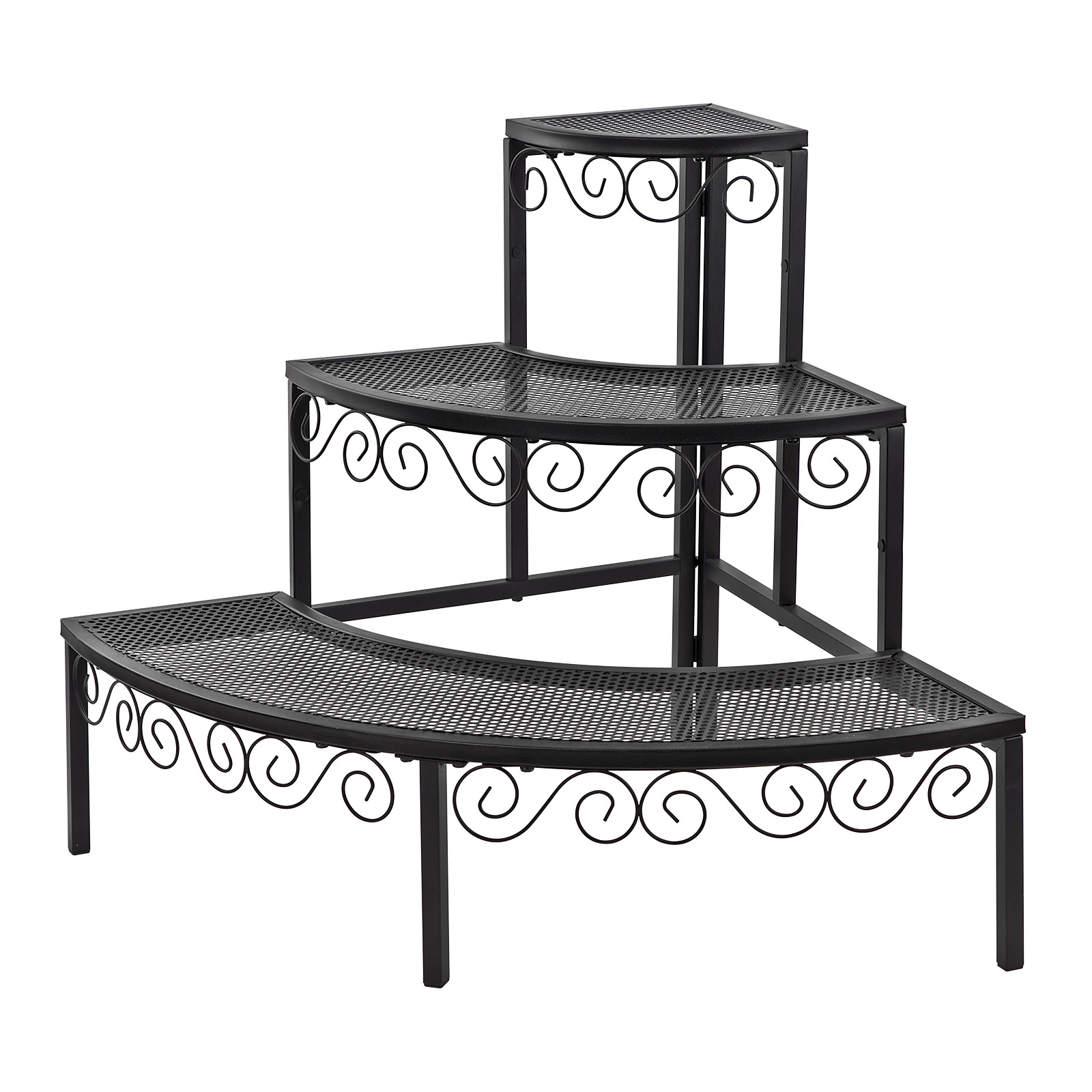 918453 pflanzentreppe deko blumentreppe treppe eckregal. Black Bedroom Furniture Sets. Home Design Ideas