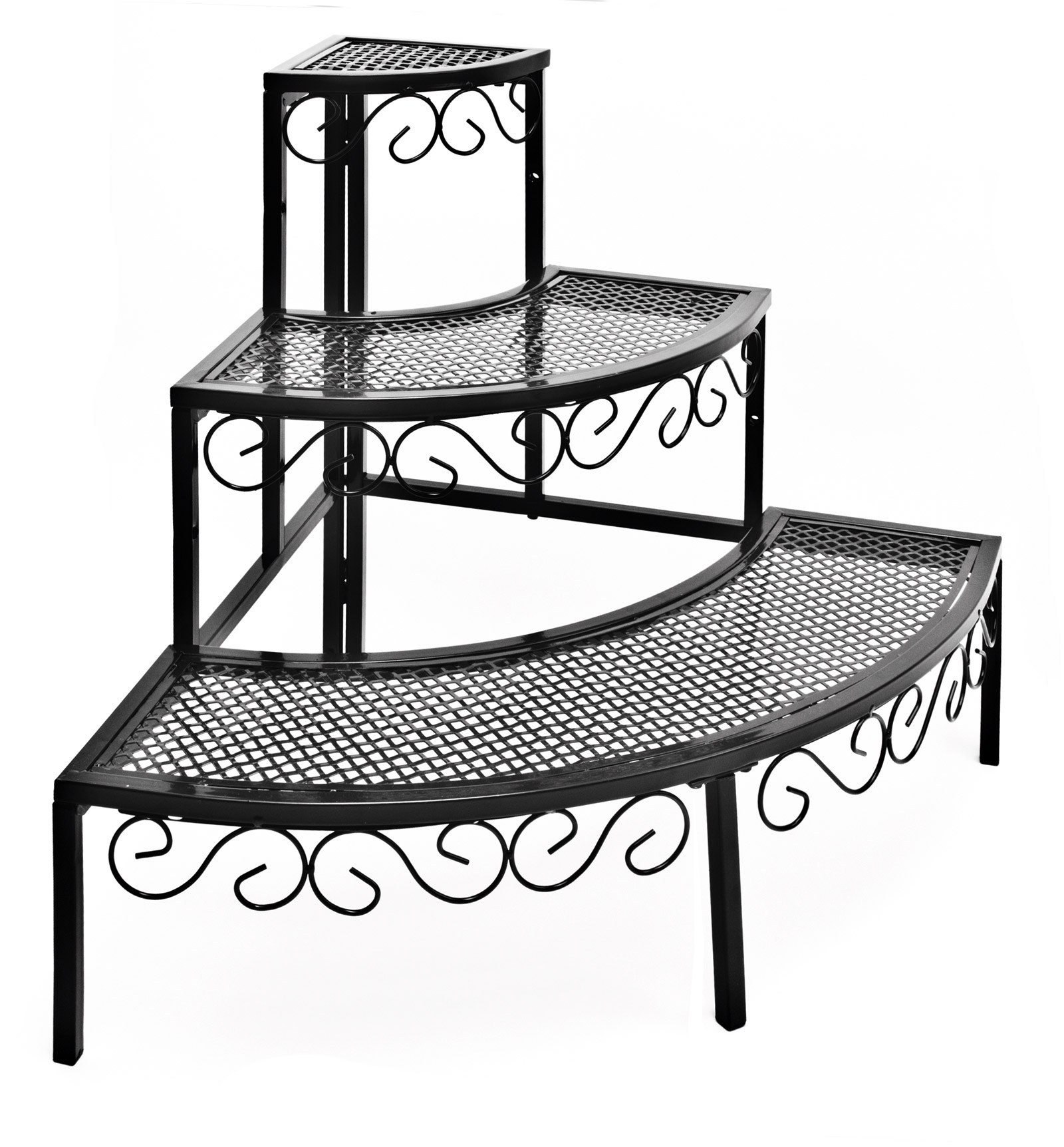 eck pflanzenregal blumen balkon blumentreppe nostalgie gartenregal 46998 ebay. Black Bedroom Furniture Sets. Home Design Ideas