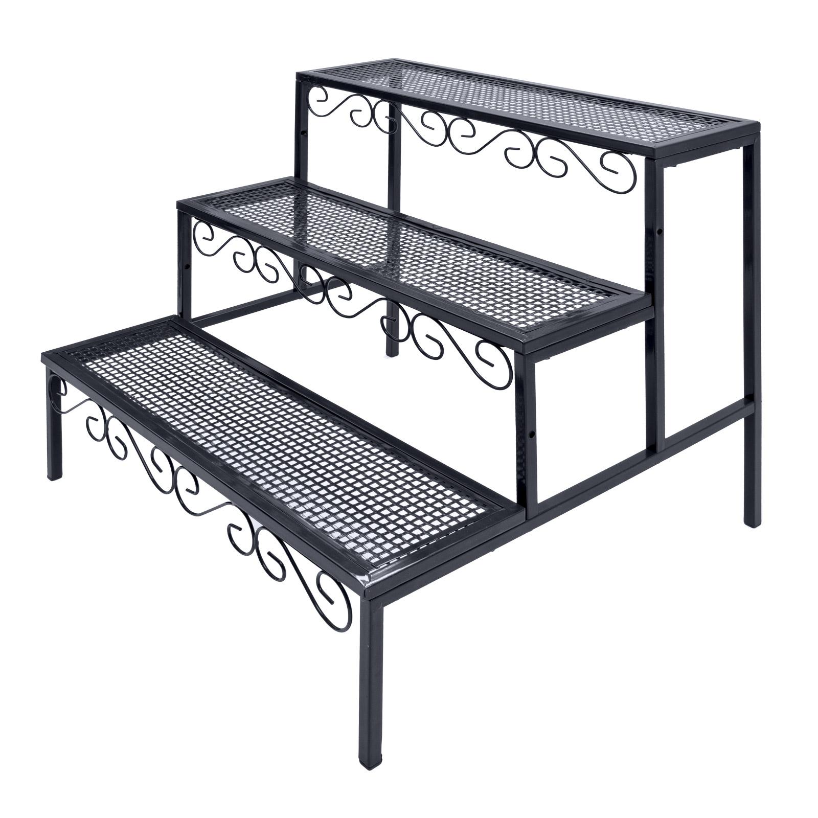 regal treppe pflanztreppe standregal pflanzregal b cherregal 3stufen 918429 ebay. Black Bedroom Furniture Sets. Home Design Ideas