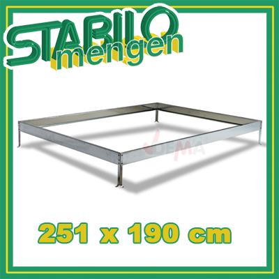917941 metall fundament f r gew chshaus basic 4 75 qm. Black Bedroom Furniture Sets. Home Design Ideas