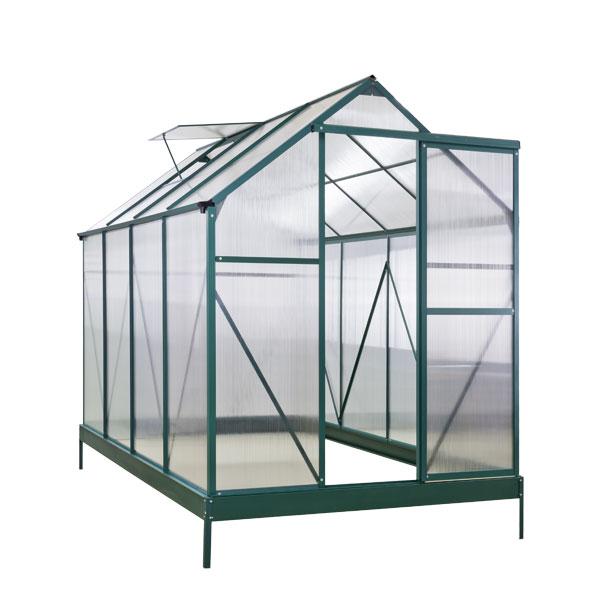 alu gew chshaus eindhoven 5 5 qm mit dachfenster treibhaus fr hbeet neu 47019 ebay. Black Bedroom Furniture Sets. Home Design Ideas