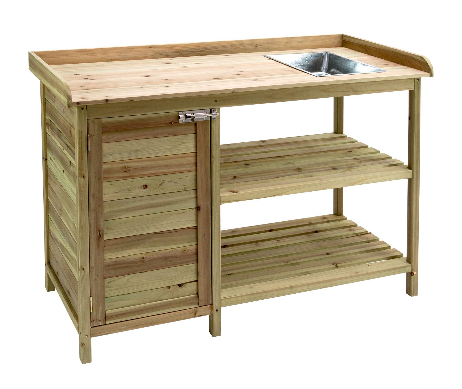 pflanztisch g rtnertisch blumentisch garten gew chshaus holz tisch 918697 ebay. Black Bedroom Furniture Sets. Home Design Ideas