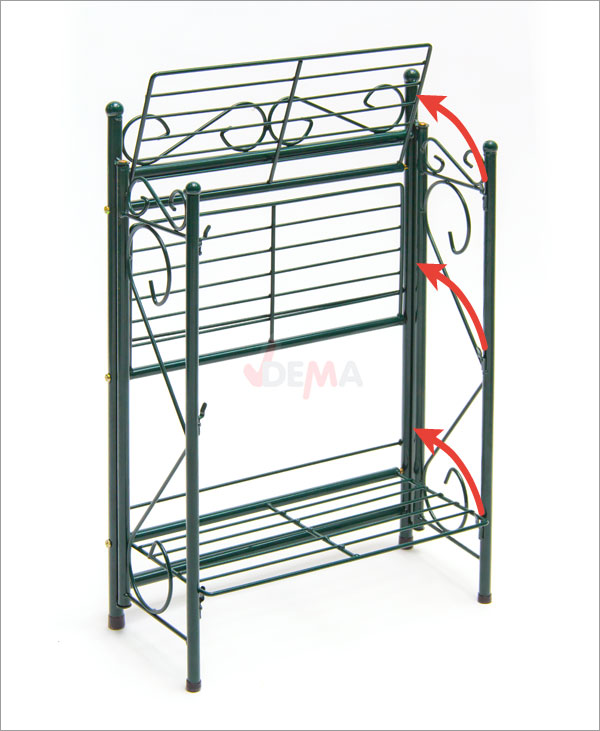 918436 regal pflanzenregal landhausstil blumenregal metall. Black Bedroom Furniture Sets. Home Design Ideas