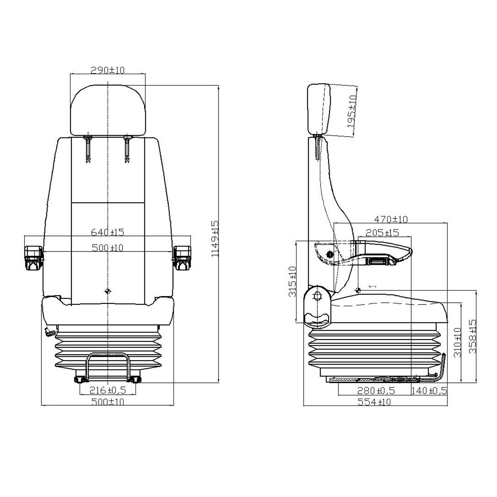 si ge de tracteur avec accoudoirs et suspensions yq30. Black Bedroom Furniture Sets. Home Design Ideas