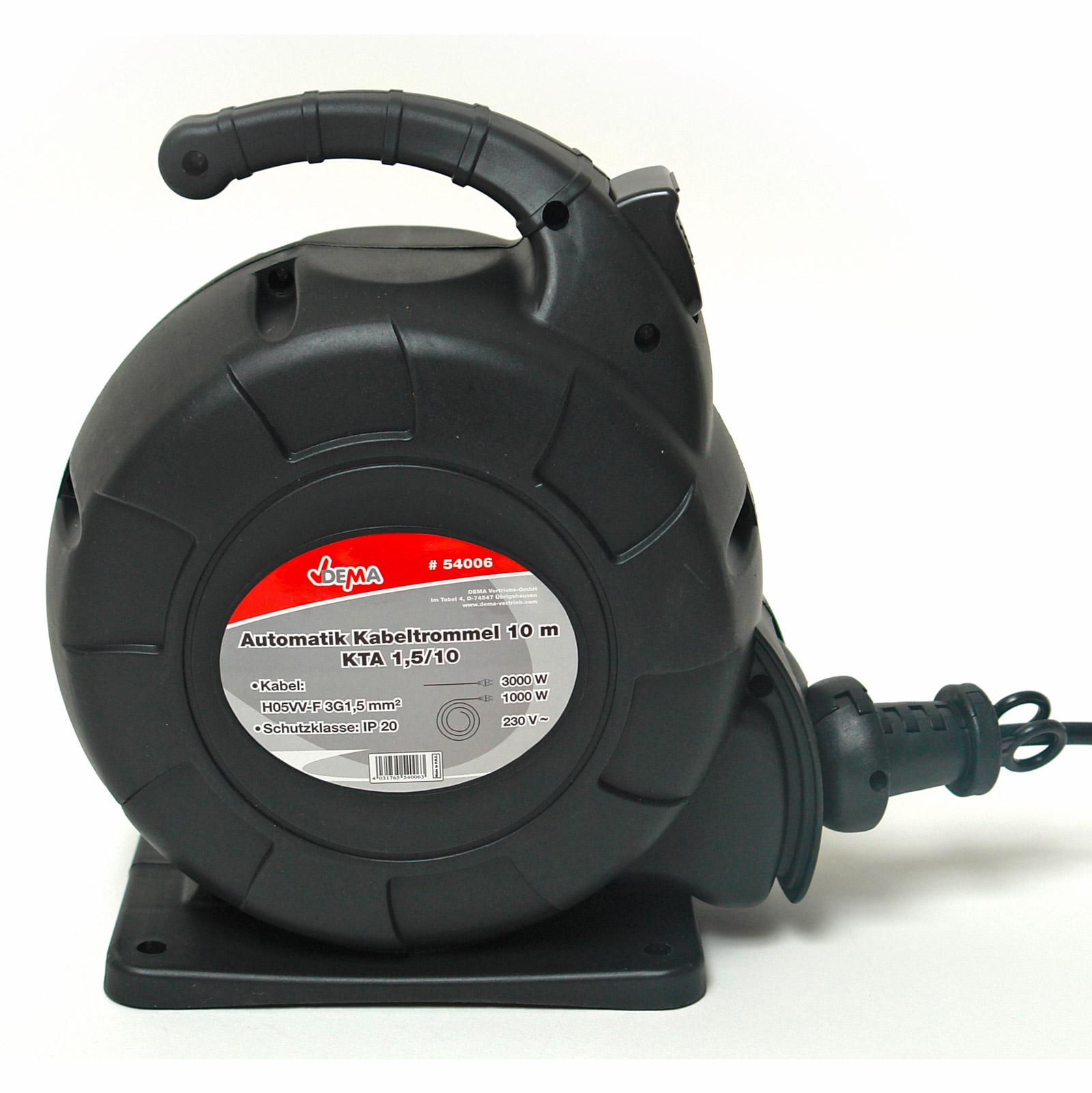 automatik kabeltrommel kabelbox 10m h05vvf 3x1 5 917550 ebay. Black Bedroom Furniture Sets. Home Design Ideas