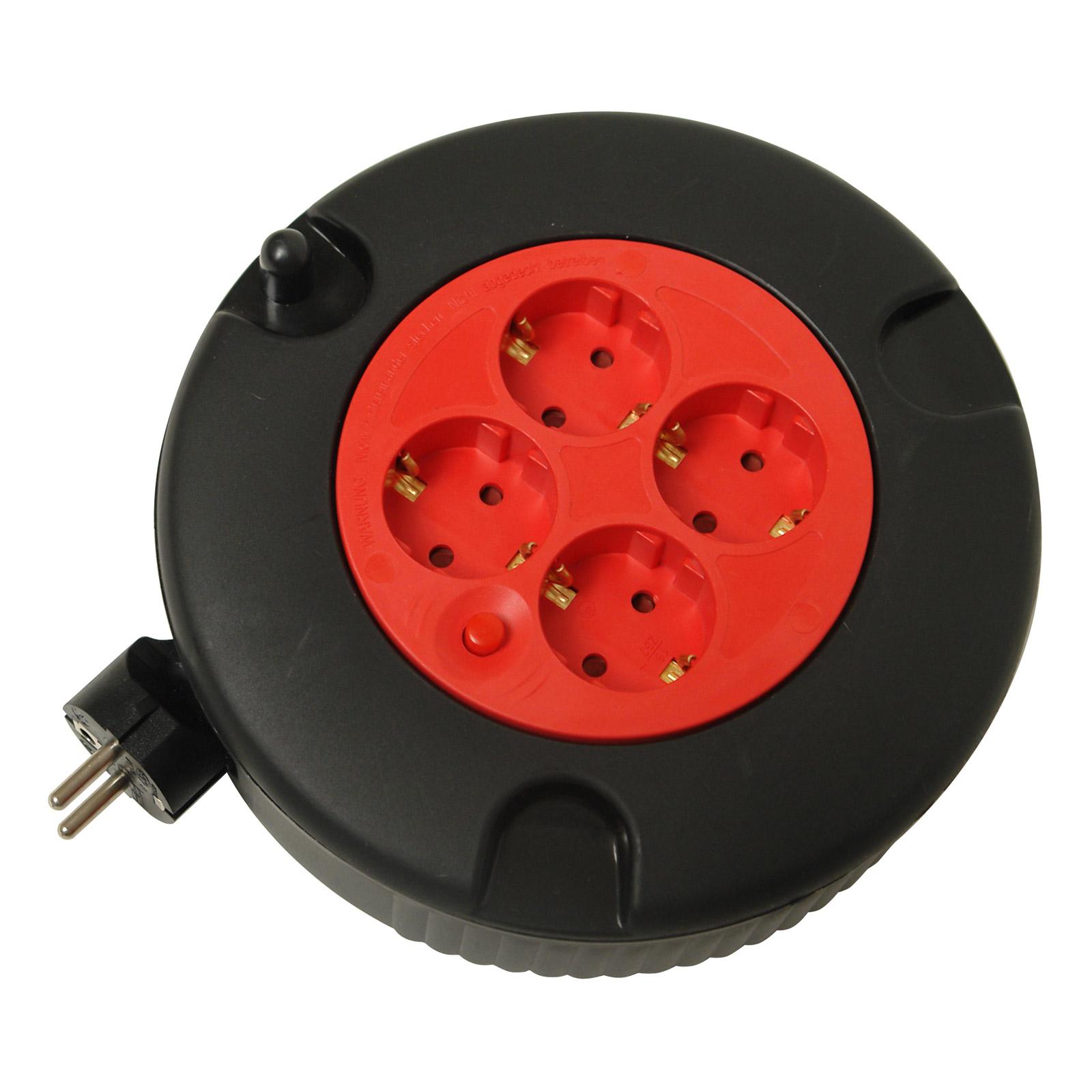 kabeltrommel kabel trommel kabelbox verl ngerungskabel mehrfachstecker 5m 54009 ebay. Black Bedroom Furniture Sets. Home Design Ideas