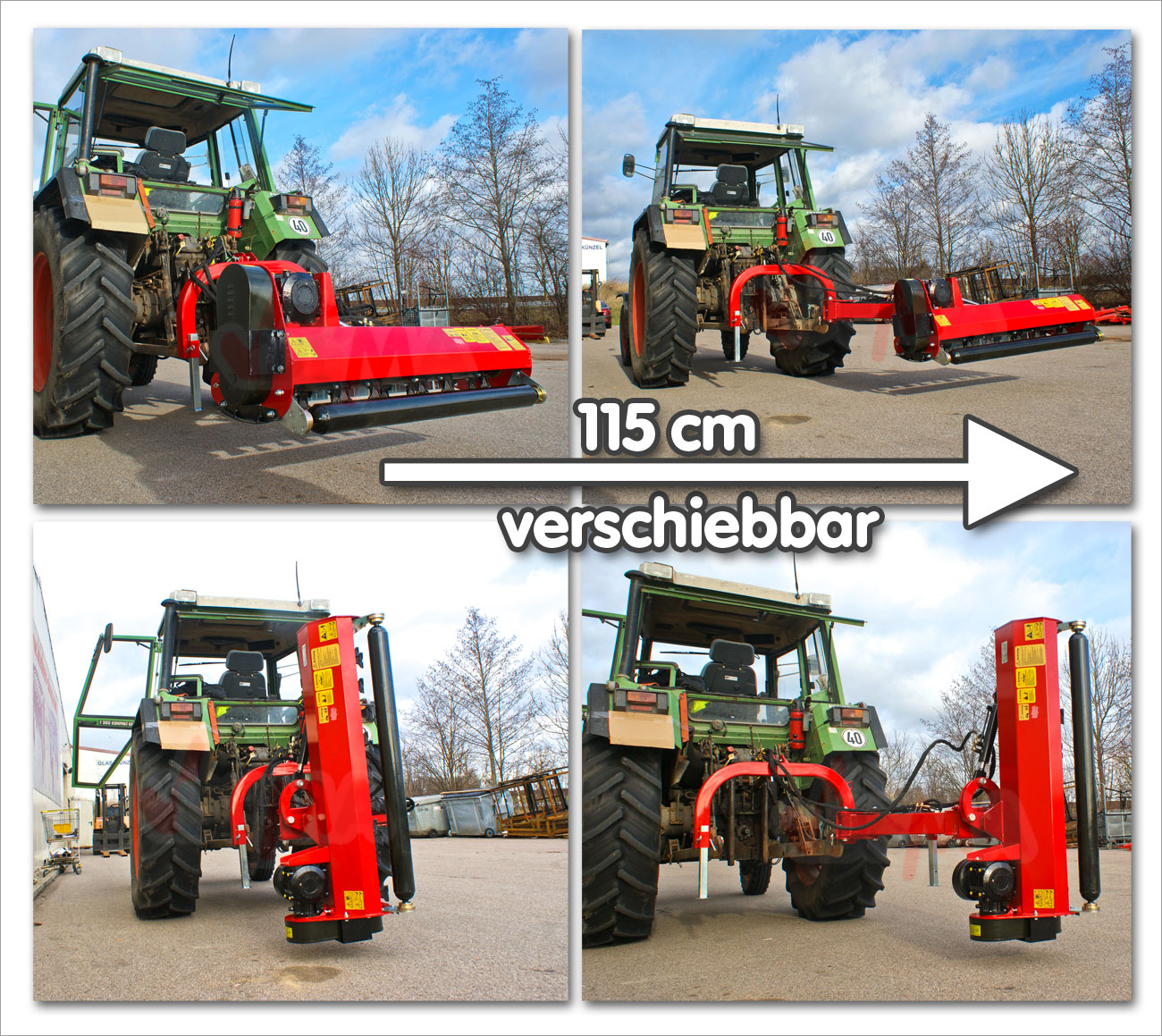traktor m hwerk slm 145s mulcher schlegelmulcher versatz heckm hwerk m her ebay. Black Bedroom Furniture Sets. Home Design Ideas