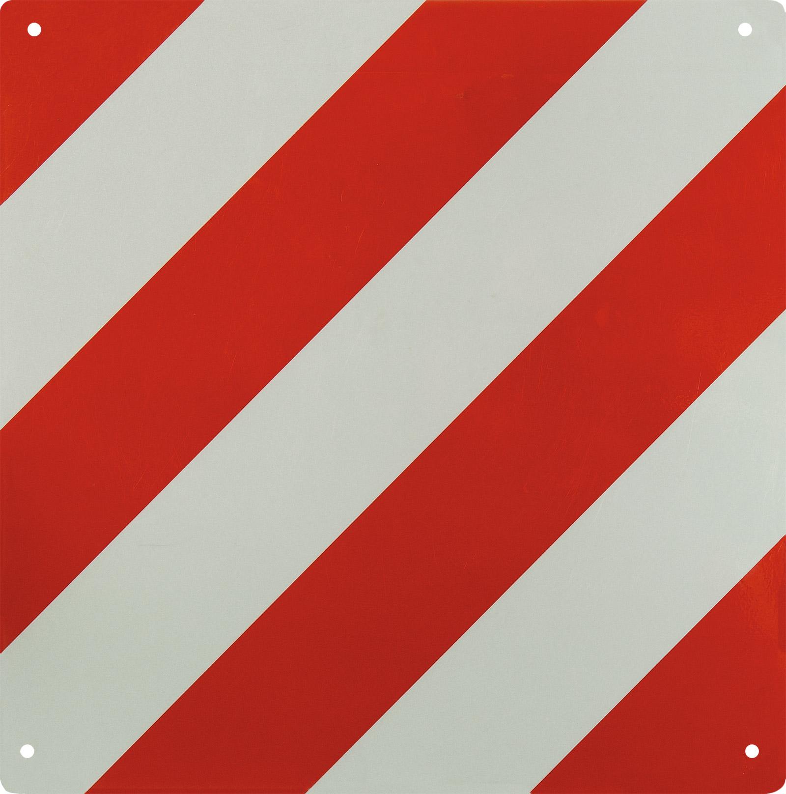 warntafel reflektor schild rot wei alu 50x50 cm neu 69067