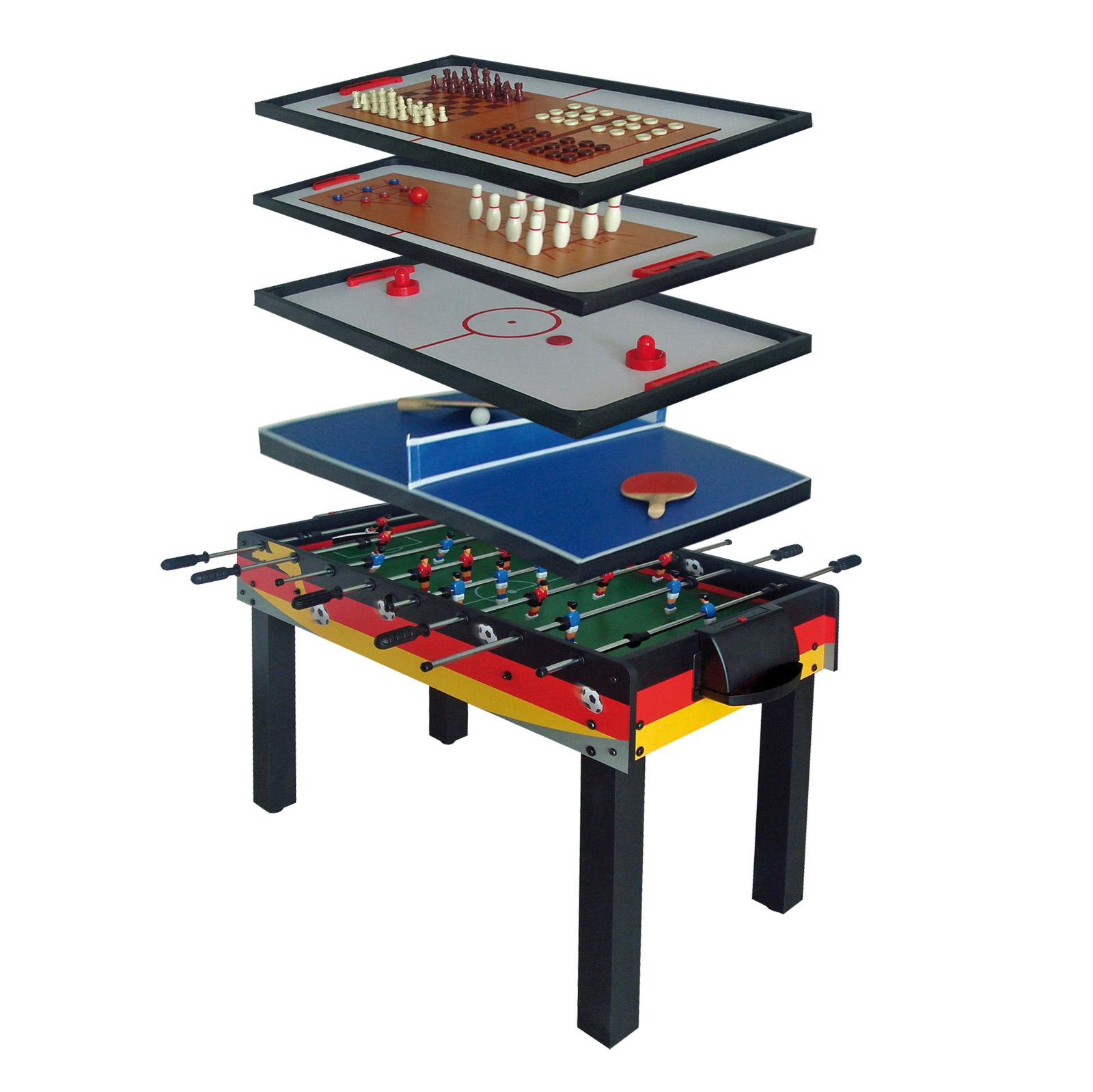 Tischfussball-7-in-1-Spieletisch-Multigame-Kicker-70092