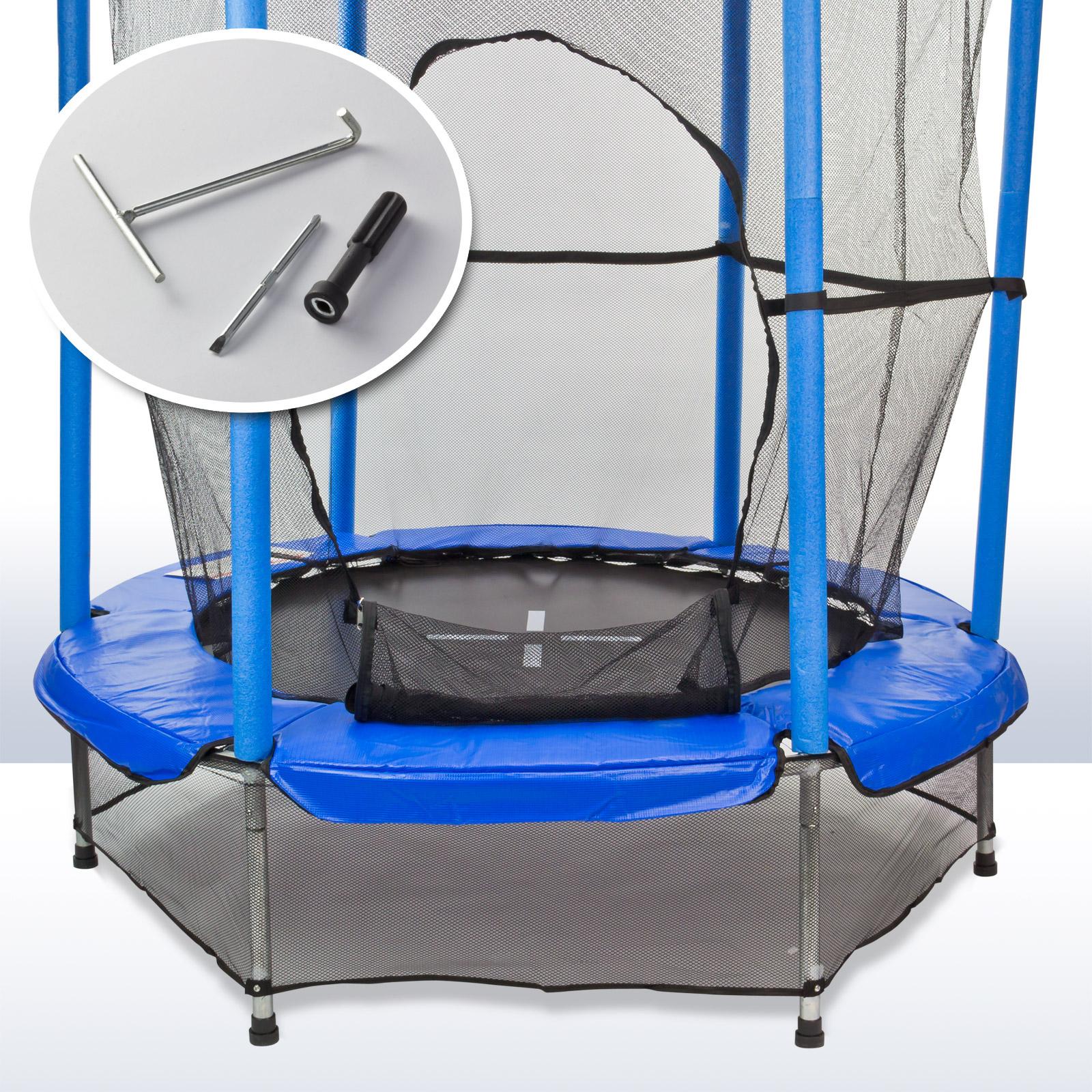 919646 kinder trampolin kindertrampolin 140 cm mit. Black Bedroom Furniture Sets. Home Design Ideas