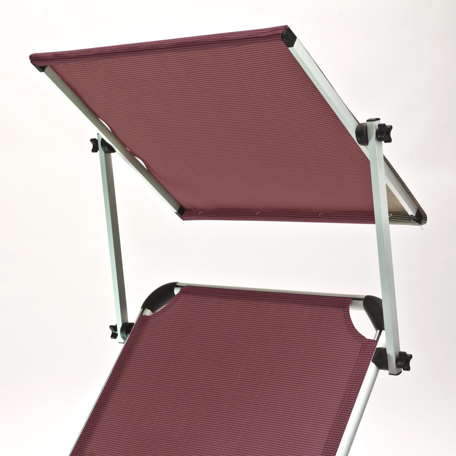 921195 gartenliege mit sonnendach bordeaux sonnenliege. Black Bedroom Furniture Sets. Home Design Ideas