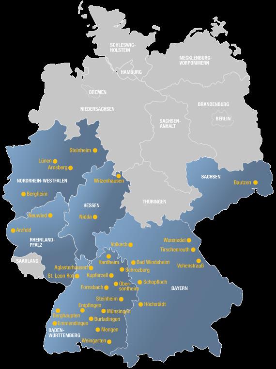 Vertriebspartner Standorte Deutschland