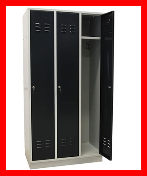 126461 spind spint gaderobe schrank metall 3 t rig neu ebay. Black Bedroom Furniture Sets. Home Design Ideas